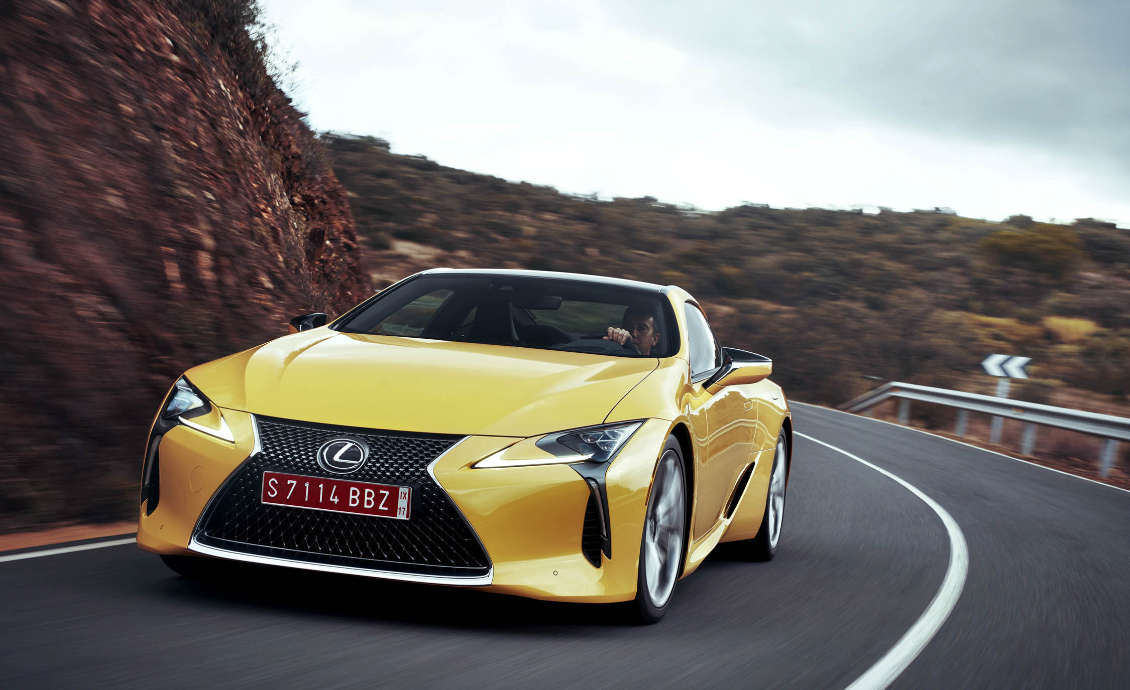 2018 Lexus Lc500 Yellow Test Drive (Photo 71 of 84)