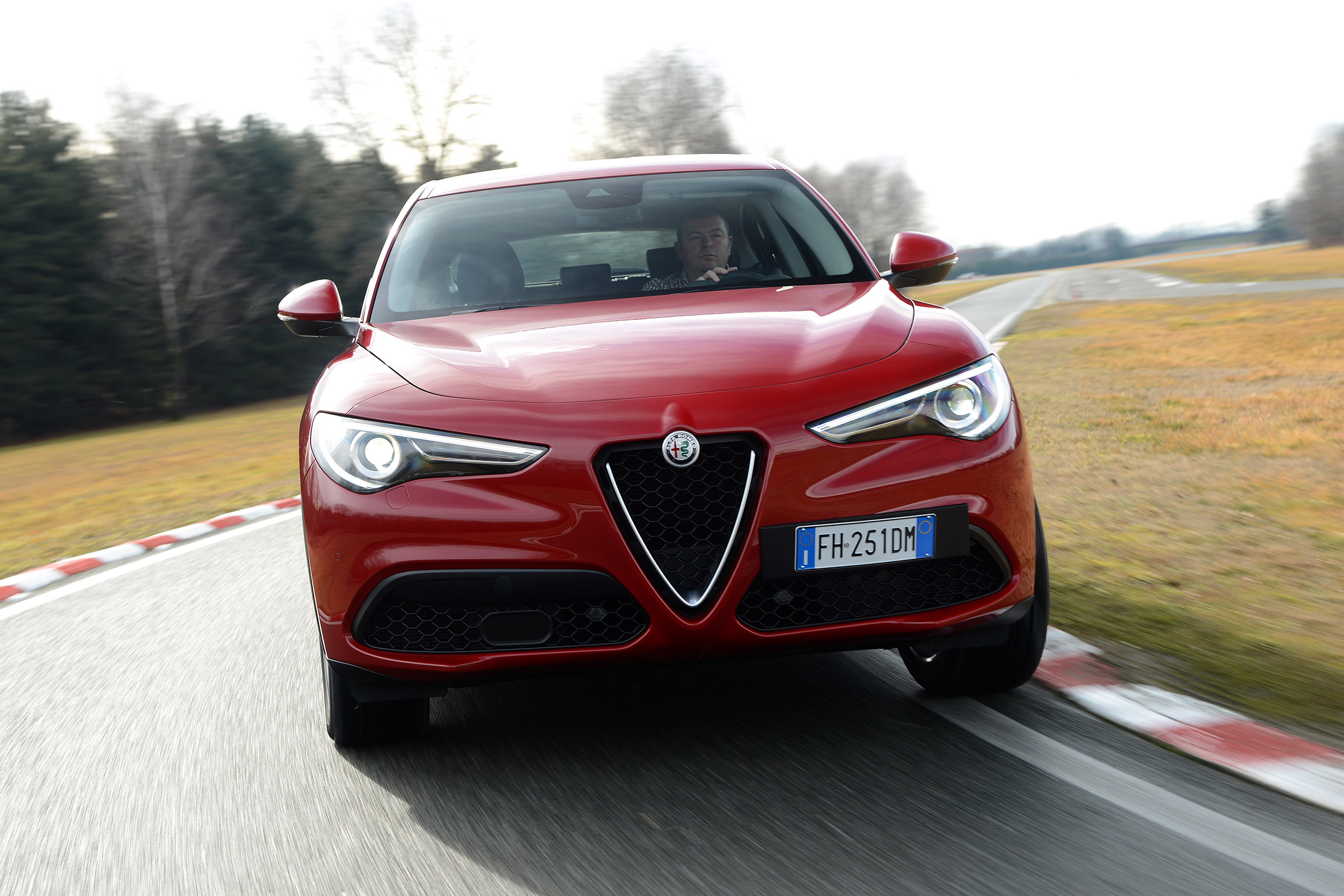 2017 Alfa Romeo Stelvio Test Drive Front View (Photo 20 of 23)