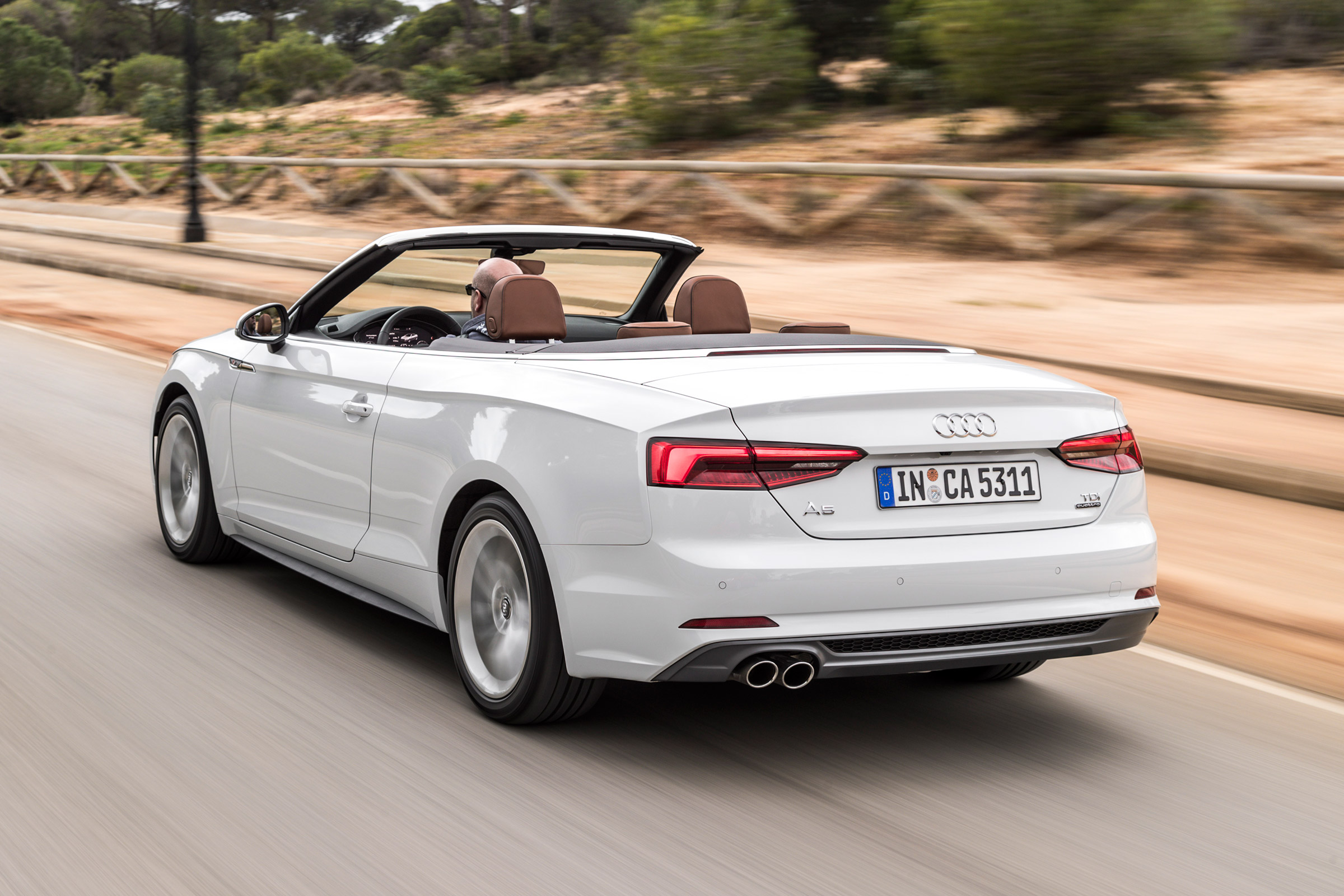 2017 Audi A5 Cabriolet Test Drive Rear And Side View (Photo 17 of 18)