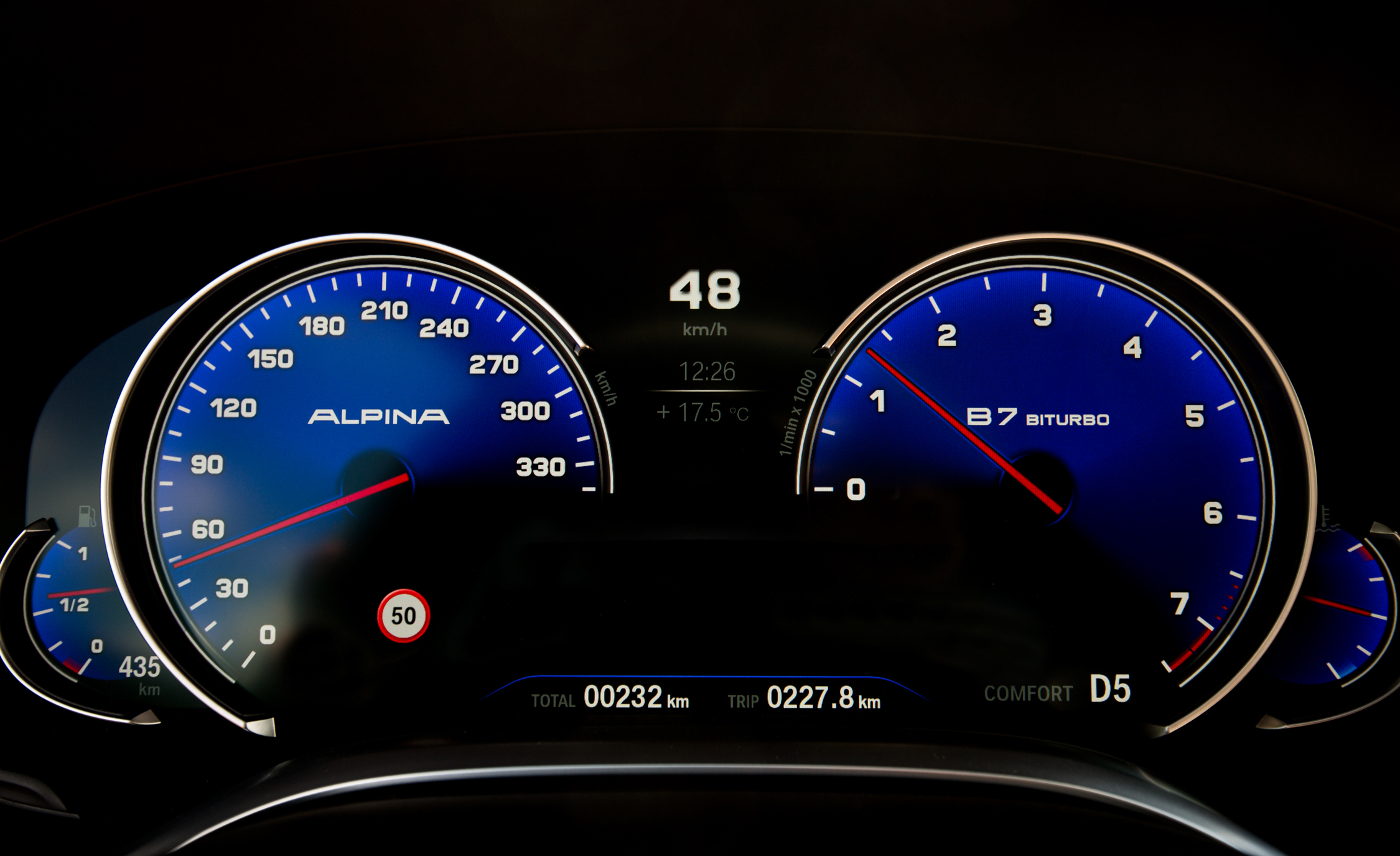 2017 BMW Alpina B7 Interior View Instrument Cluster (Photo 19 of 45)