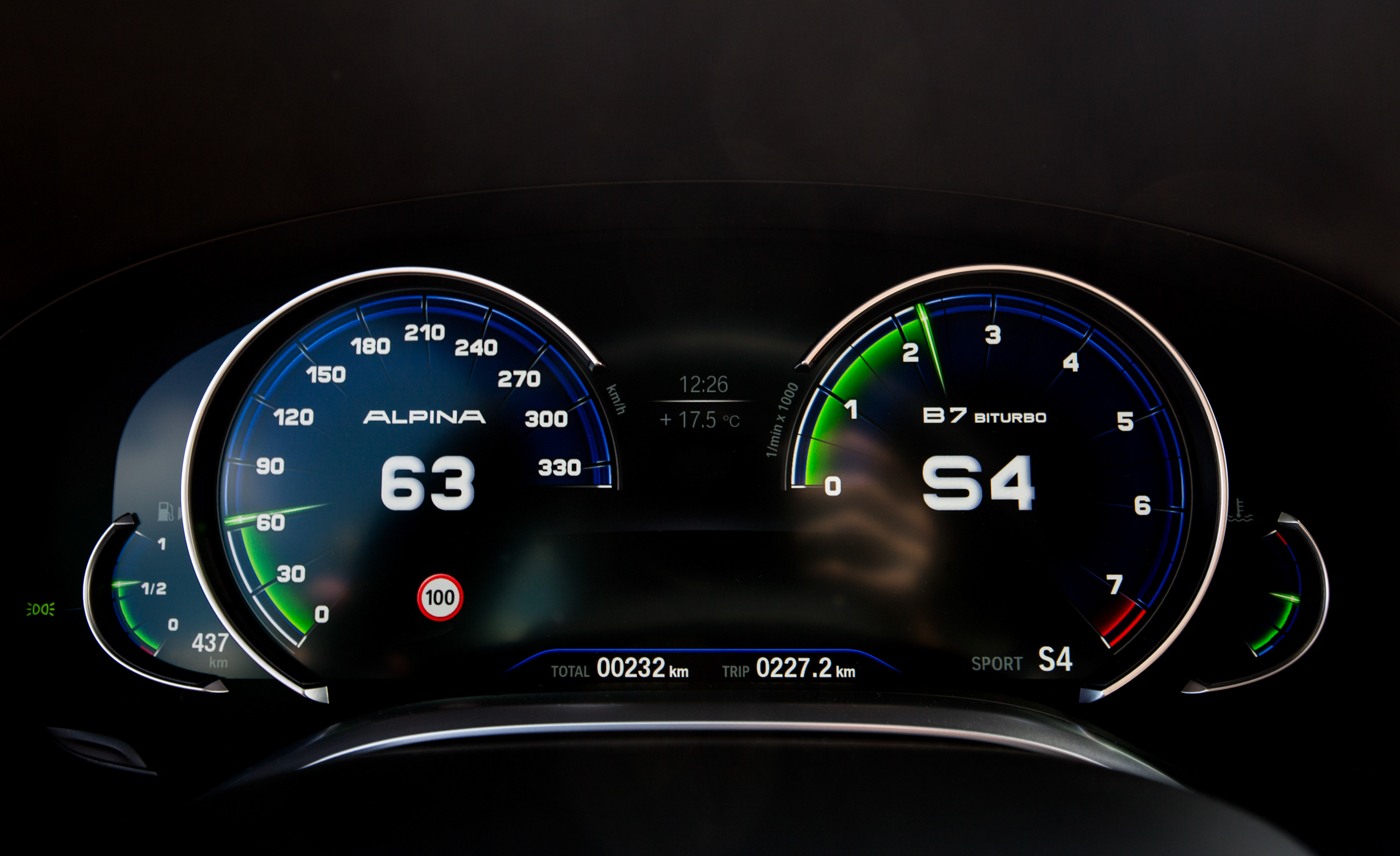 2017 BMW Alpina B7 Interior View Speedometer (Photo 20 of 45)