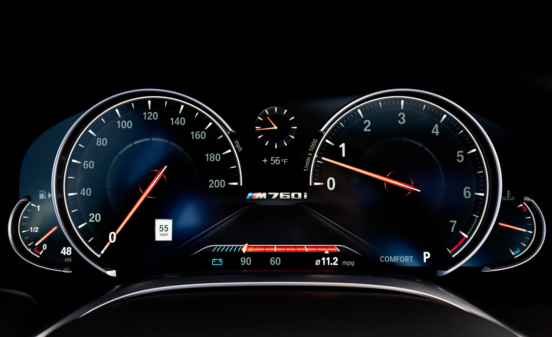 2017 BMW M760i XDrive Interior View Speedometer Instrument Cluster (Photo 36 of 76)