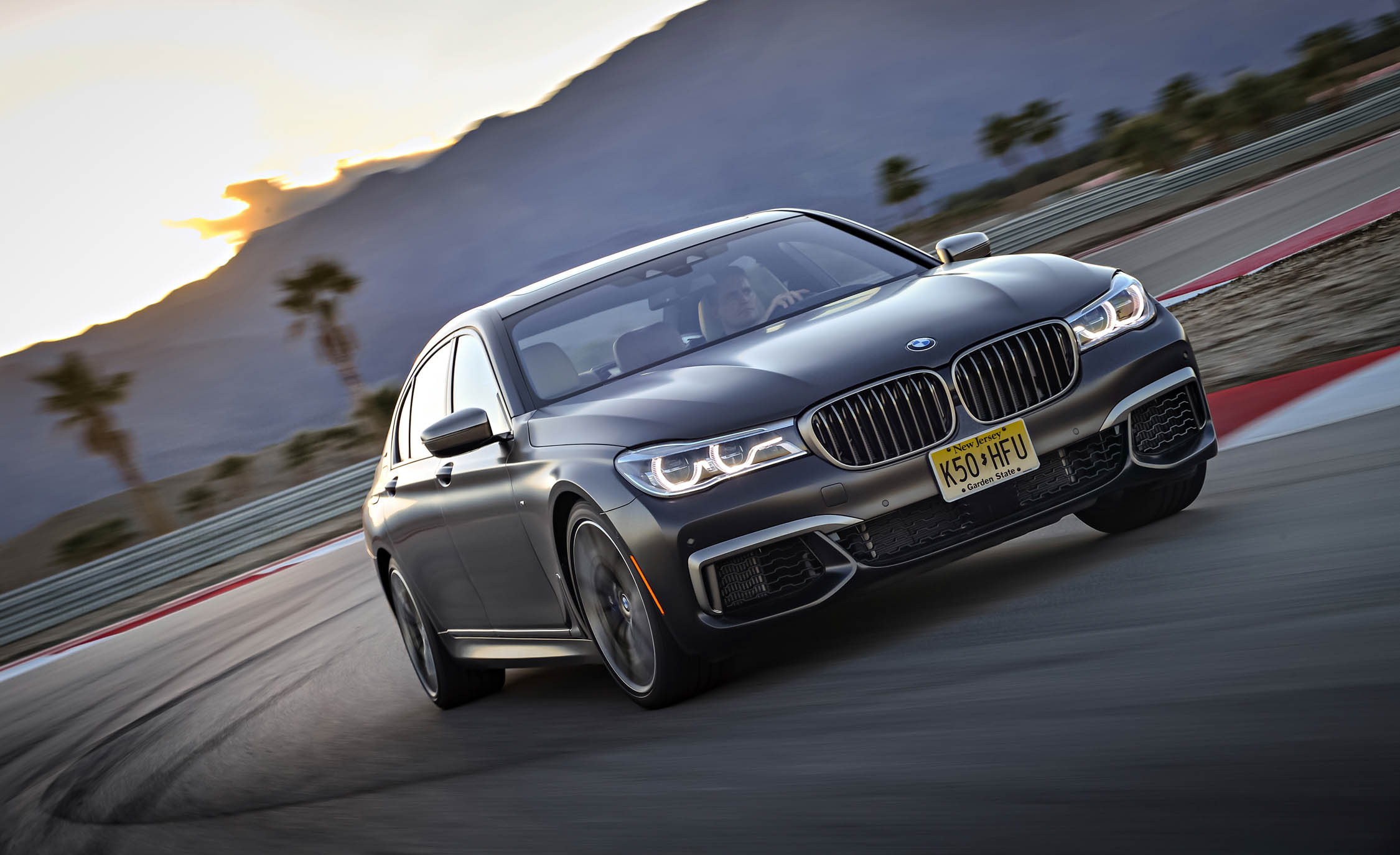 2017 BMW M760i XDrive Test Drive Grey Metallic Front Corner (Photo 42 of 76)