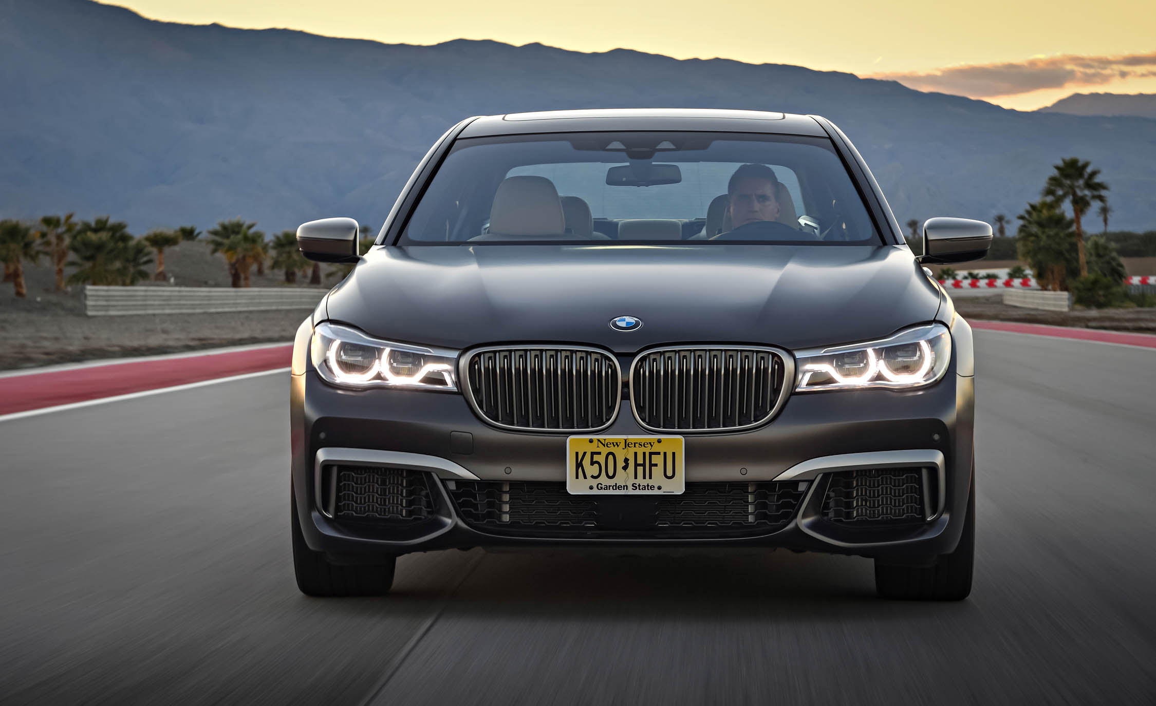 2017 BMW M760i XDrive Test Drive Grey Metallic Front End (Photo 43 of 76)