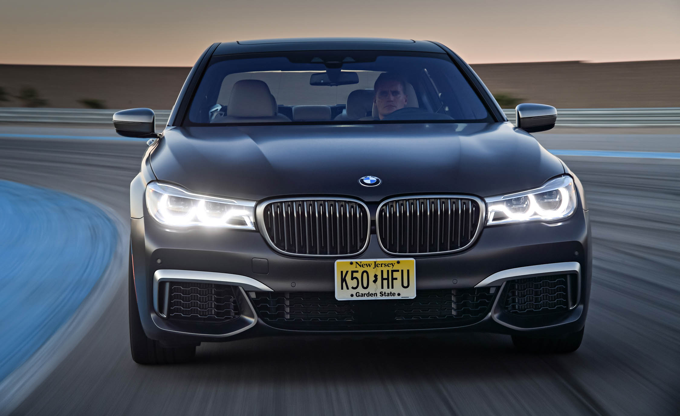 2017 BMW M760i XDrive Test Drive Grey Metallic Front View (Photo 44 of 76)