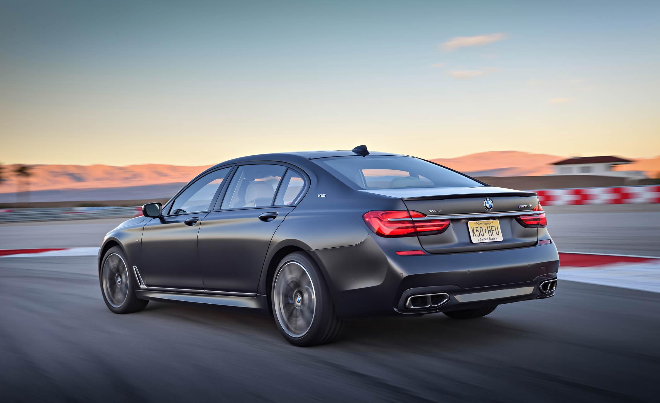 2017 BMW M760i XDrive Test Drive Grey Metallic Side And Rear Corner (View 25 of 76)