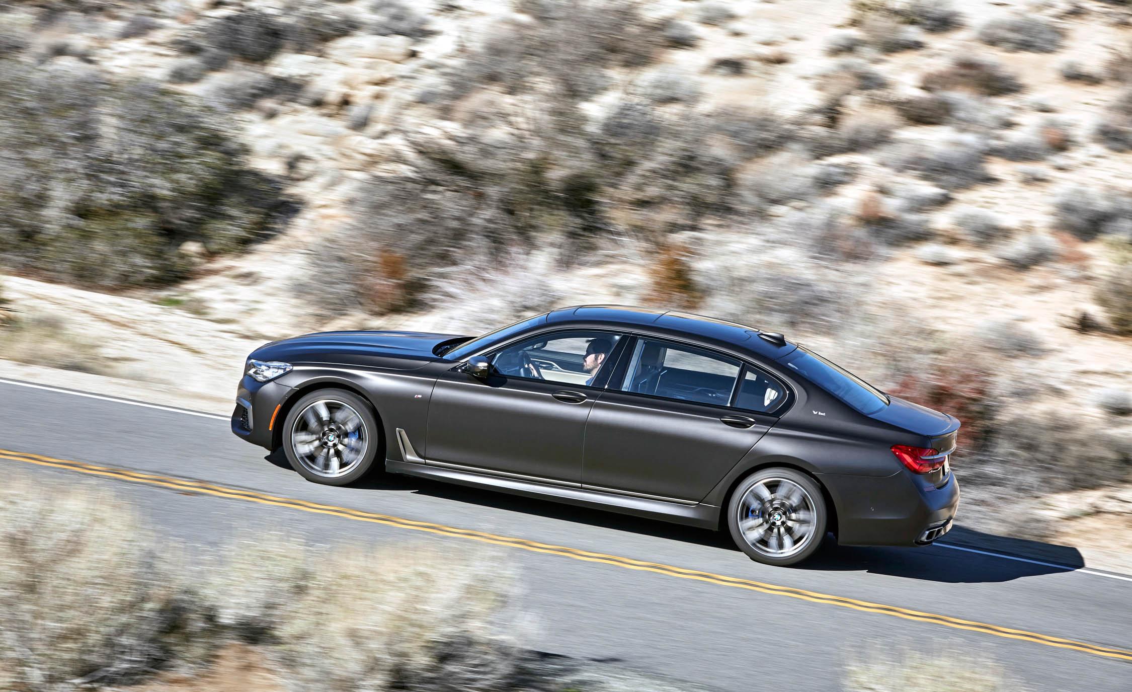 2017 BMW M760i XDrive Test Drive Grey Metallic Side Corner (View 11 of 76)