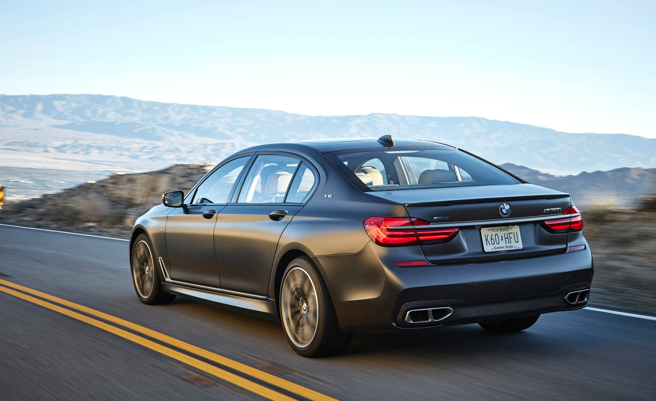 2017 BMW M760i XDrive Test Drive Rear And Side View (Photo 55 of 76)