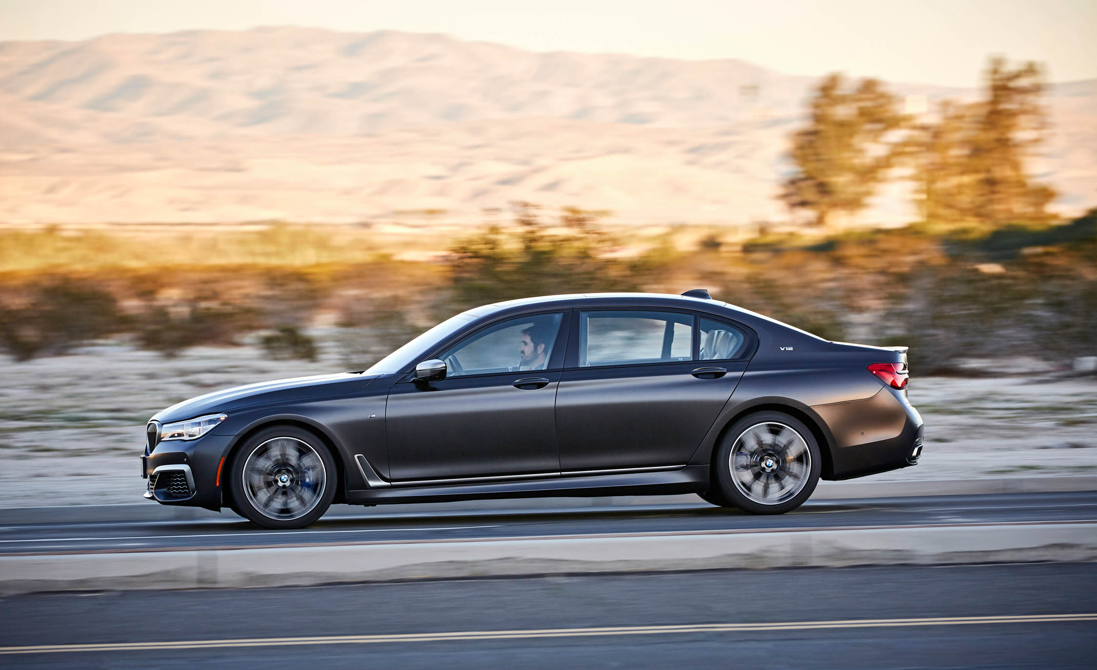 2017 BMW M760i XDrive Test Drive Side Left View (Photo 57 of 76)