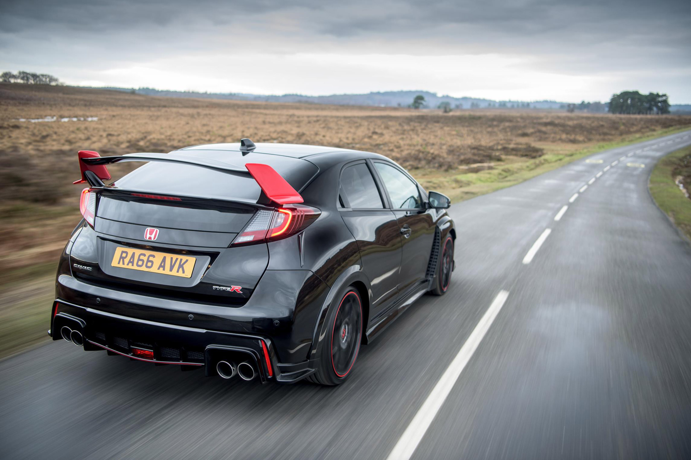 2017 Honda Civic Type R Black Edition Test Drive Rear View (Photo 6 of 6)