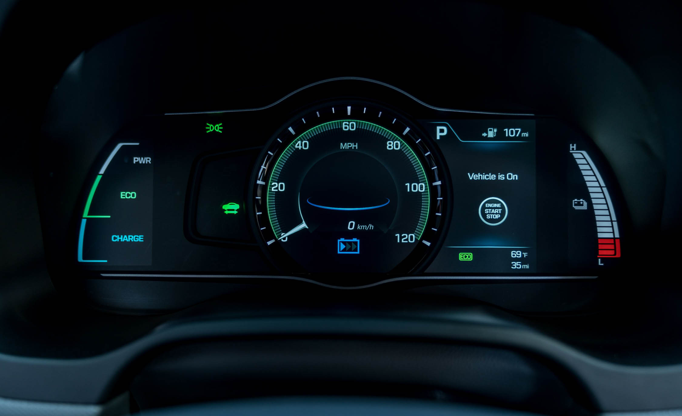 2017 Hyundai Ioniq Electric Interior View Instrument Cluster (Photo 26 of 67)