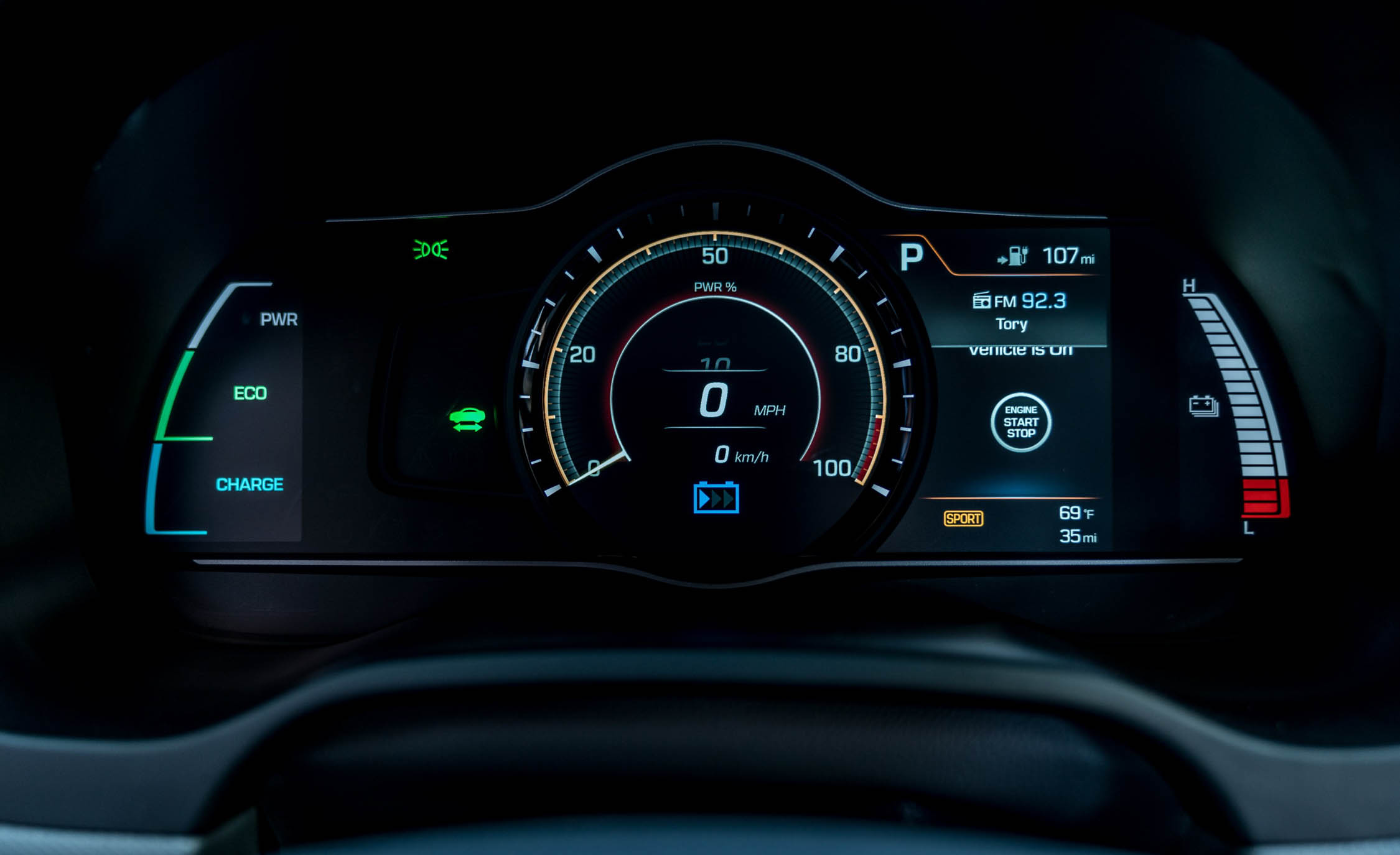 2017 Hyundai Ioniq Electric Interior View Speedometer (Photo 28 of 67)