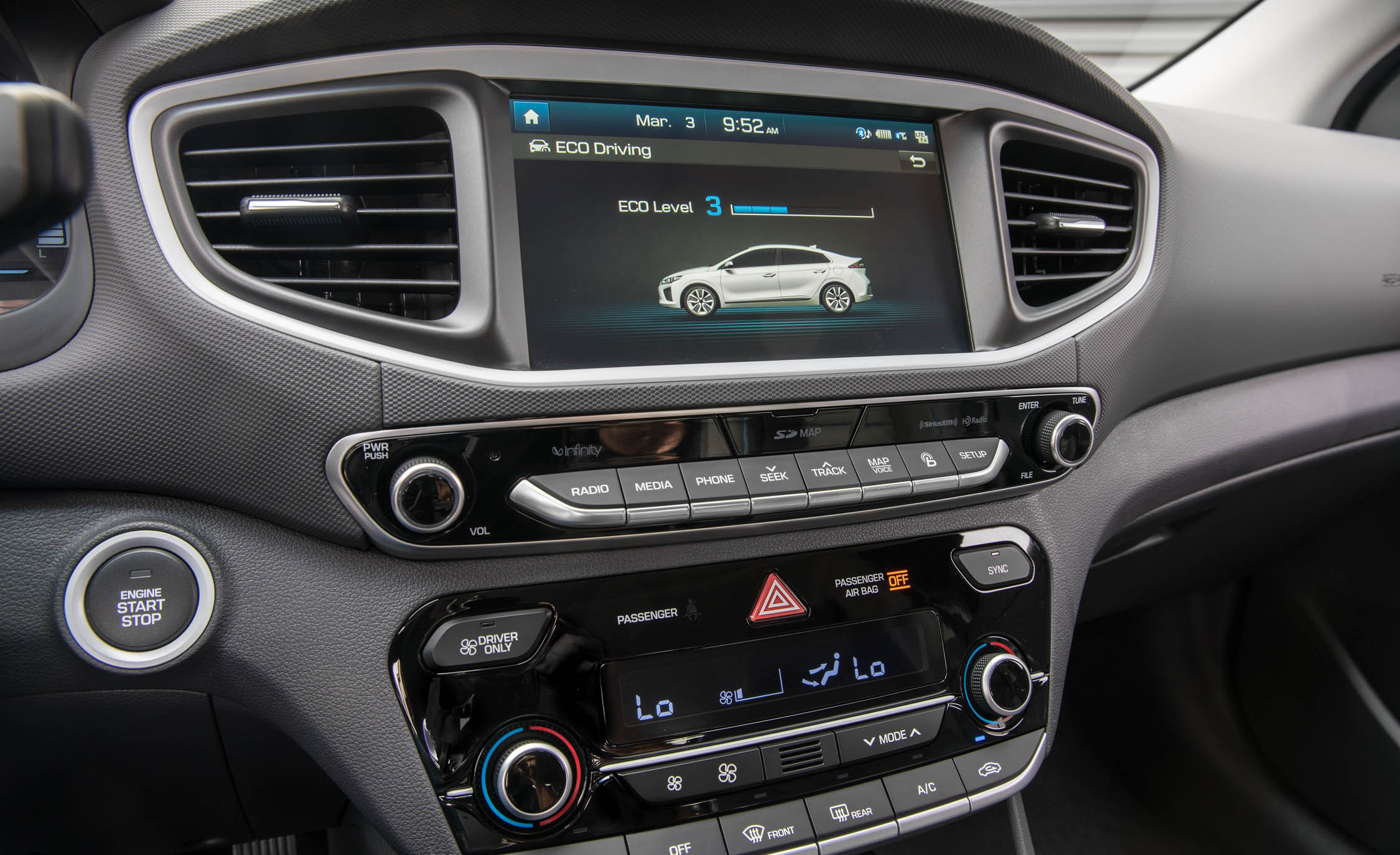 2017 Hyundai Ioniq Hybrid Interior View Center Screen And Climate Control (Photo 54 of 67)