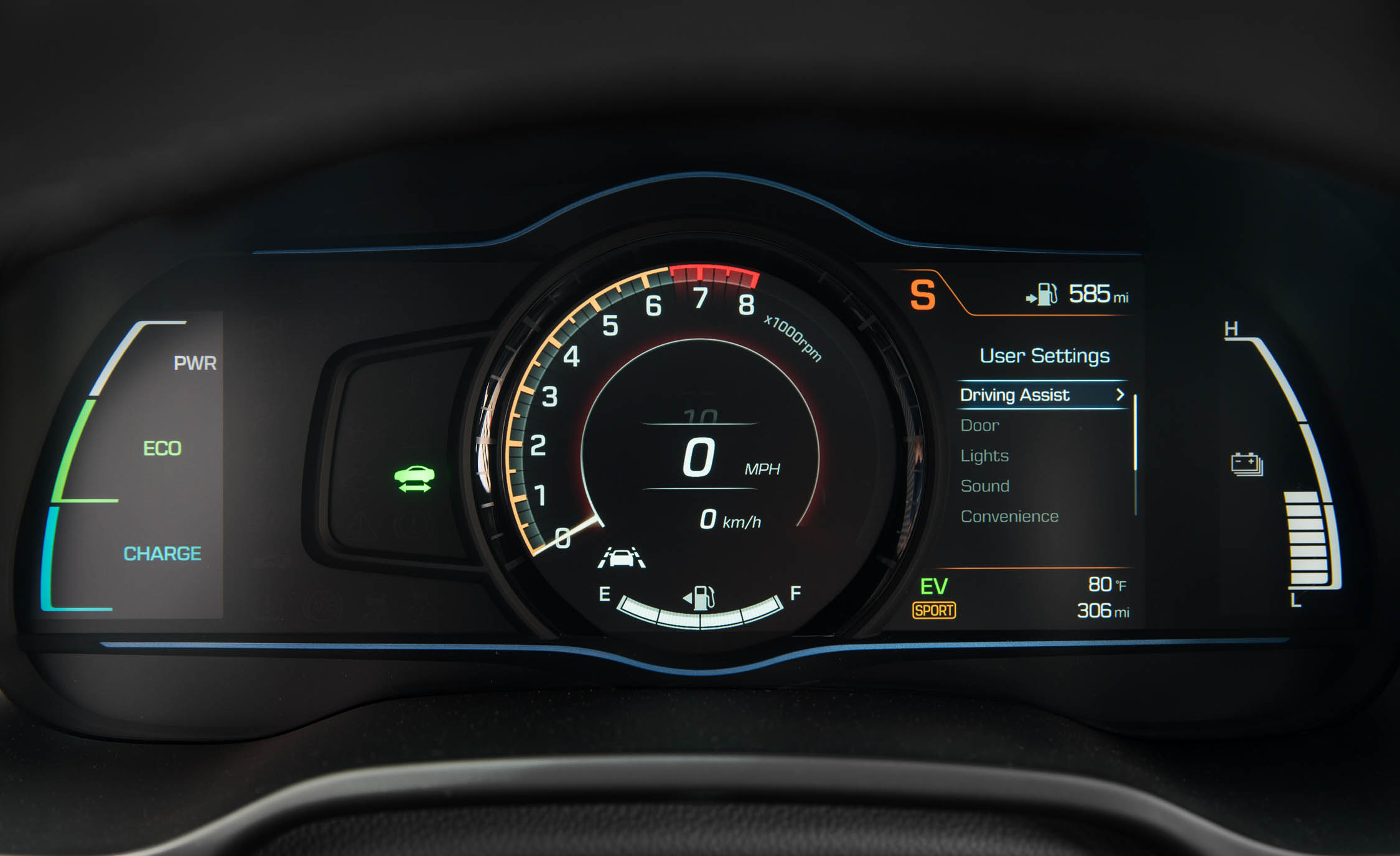 2017 Hyundai Ioniq Hybrid Interior View Speedometer Instrument Cluster (Photo 56 of 67)