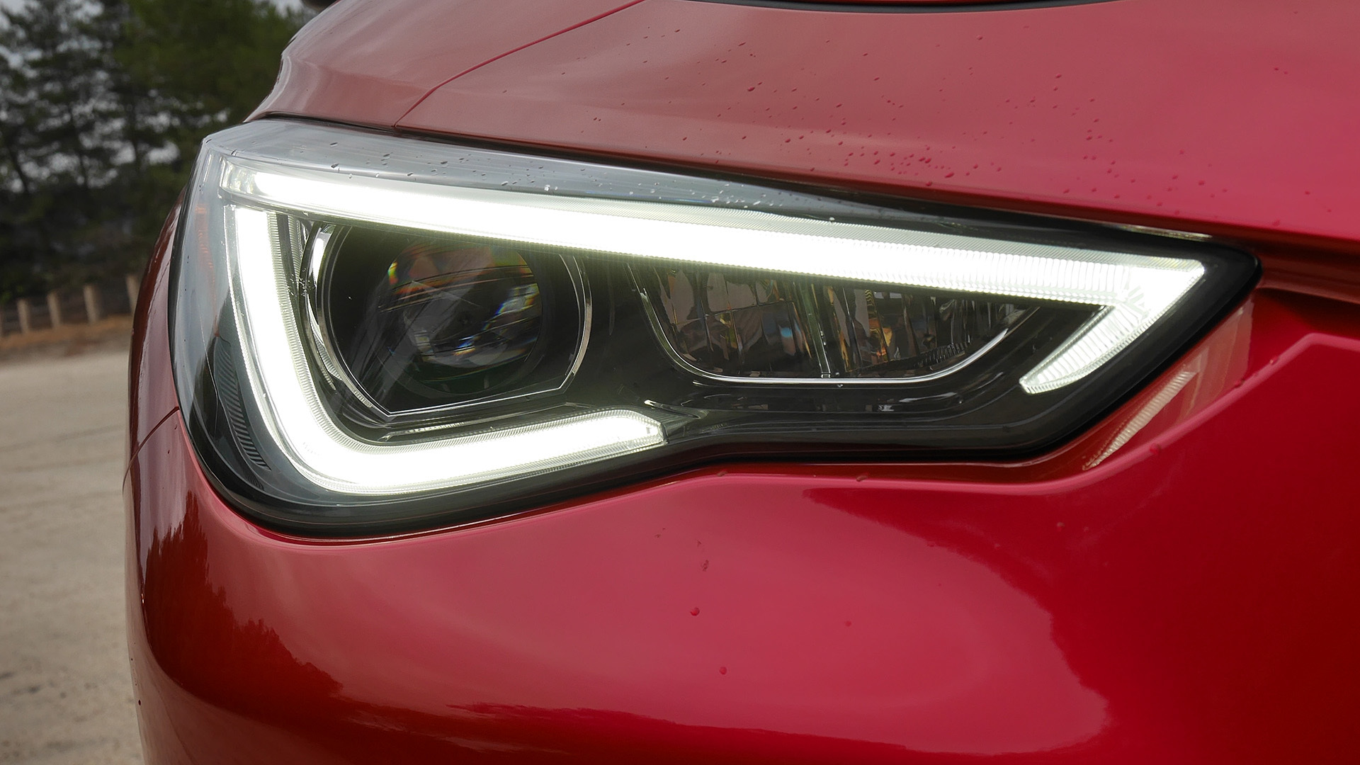 2017 Infiniti Q60 Red Exterior View Headlight (Photo 21 of 32)