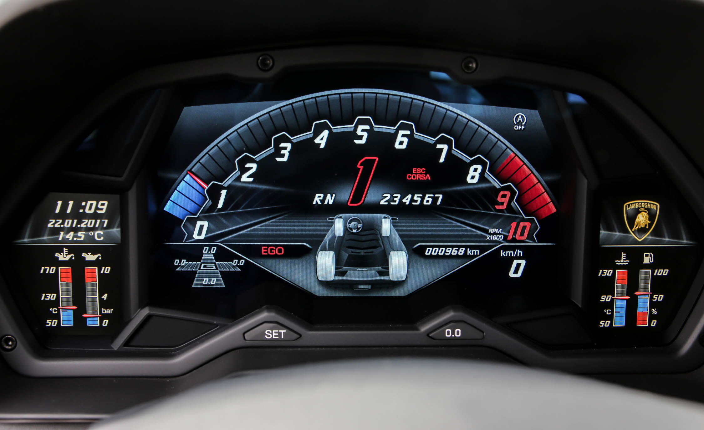 2017 Lamborghini Aventador S Interior View Speedometer Instrument Cluster (Photo 15 of 20)