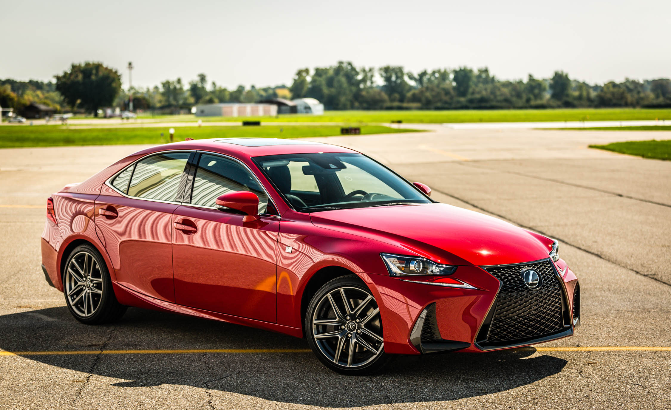 2017 Lexus IS 200t F Sport Red Exterior Front And Side (Photo 13 of 29)
