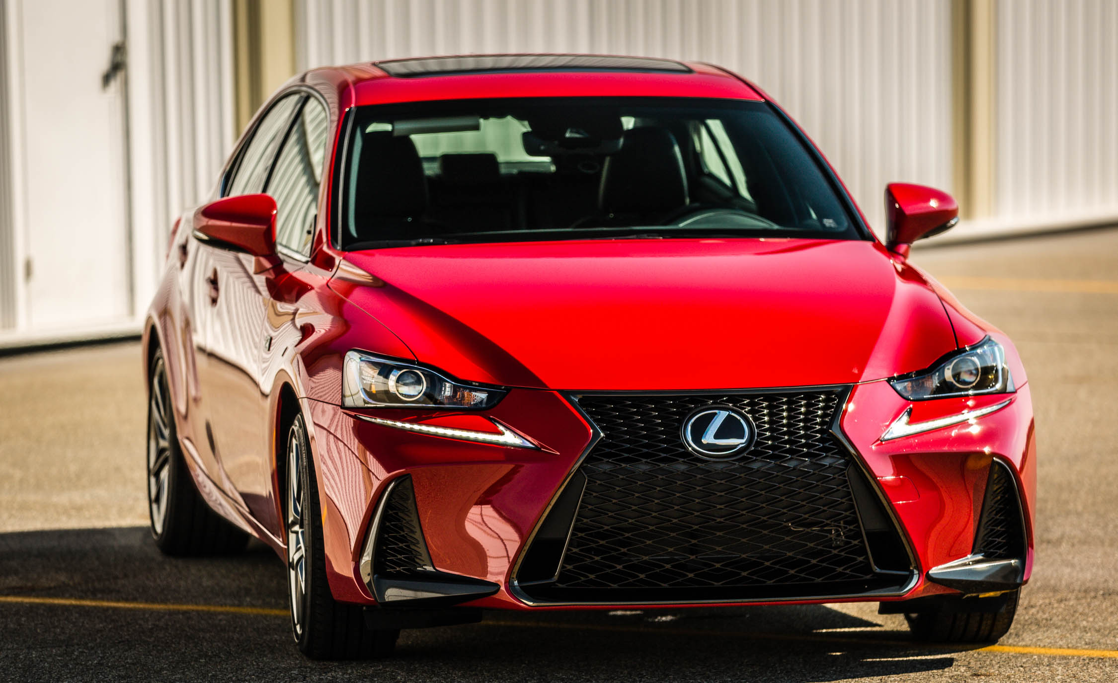 2017 Lexus IS 200t F Sport Red Exterior Front Corner (Photo 14 of 29)