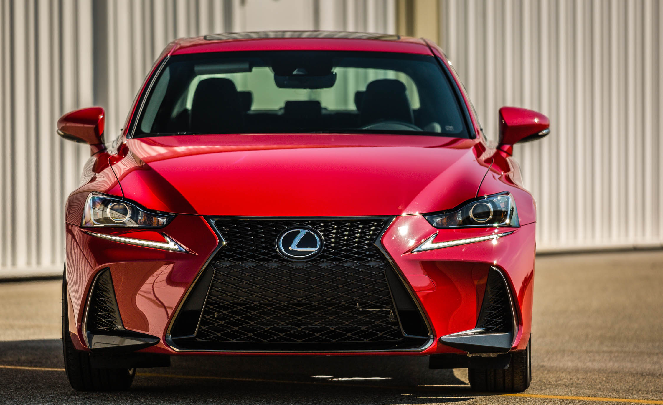 2017 Lexus IS 200t F Sport Red Exterior Front (Photo 12 of 29)