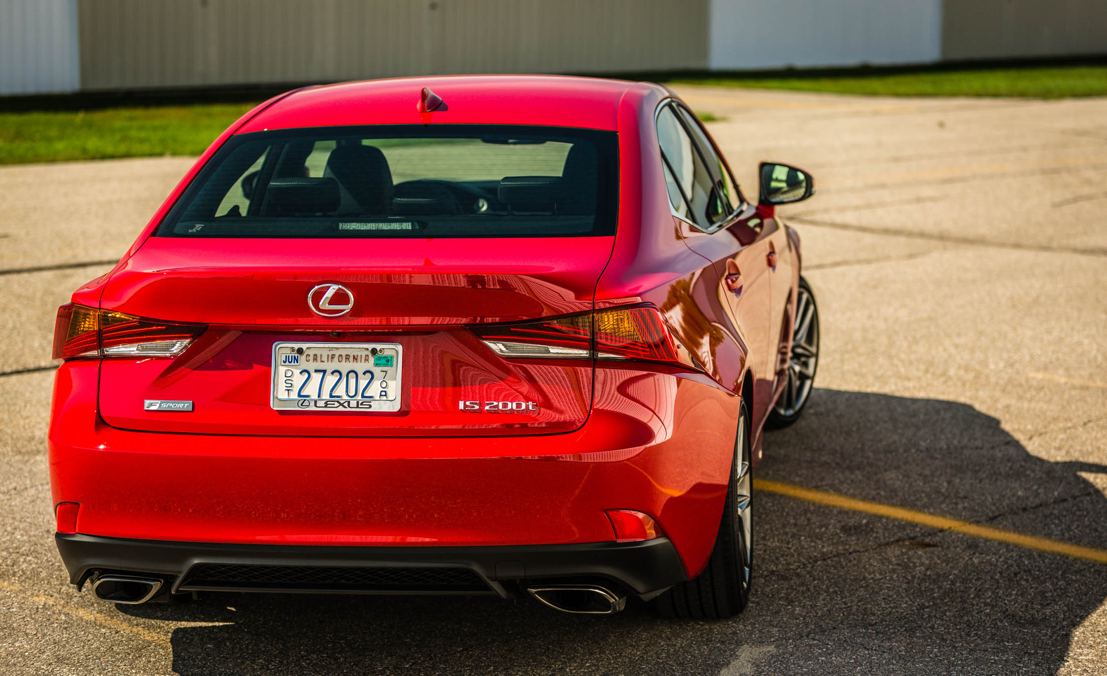 2017 Lexus IS 200t F Sport Red Exterior Rear Corner (Photo 17 of 29)