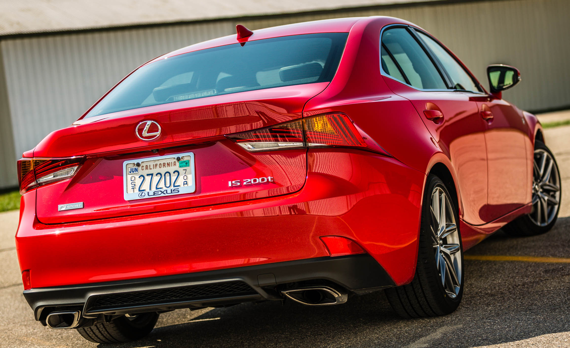2017 Lexus IS 200t F Sport Red Exterior Rear (Photo 15 of 29)