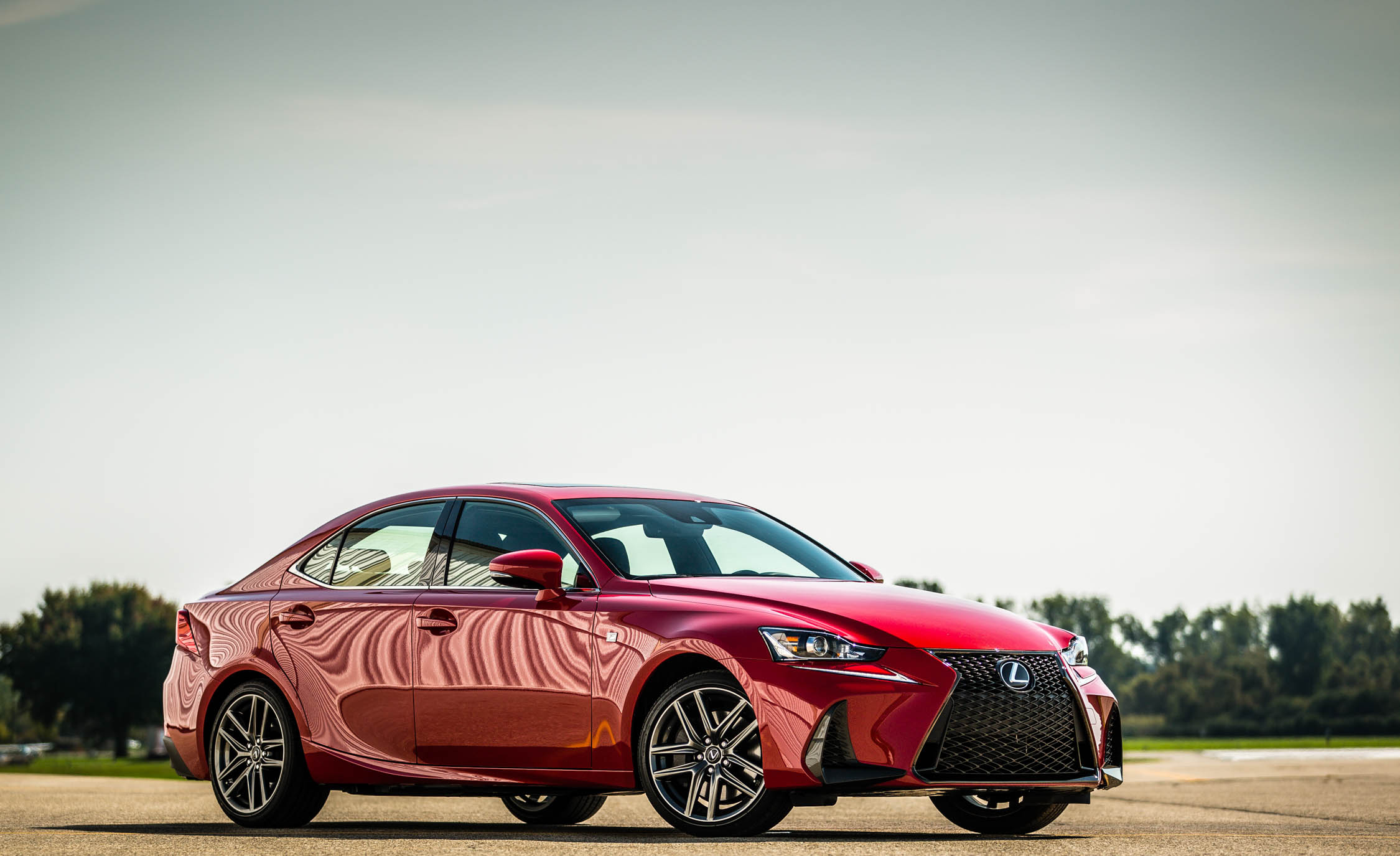 2017 Lexus IS 200t F Sport Red Exterior Side And Front (Photo 19 of 29)