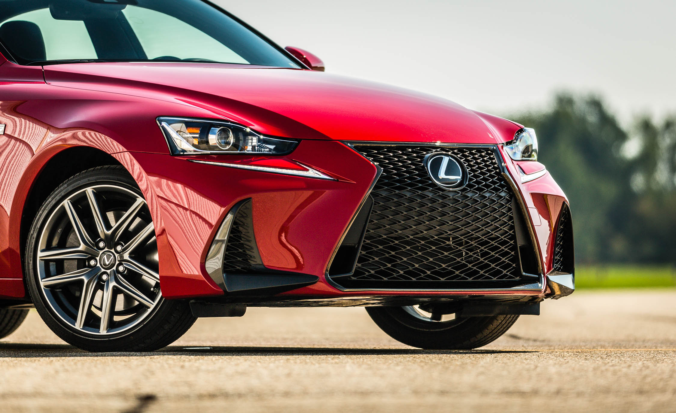 2017 Lexus IS 200t F Sport Red Exterior View Front Bumper And Grille (Photo 20 of 29)
