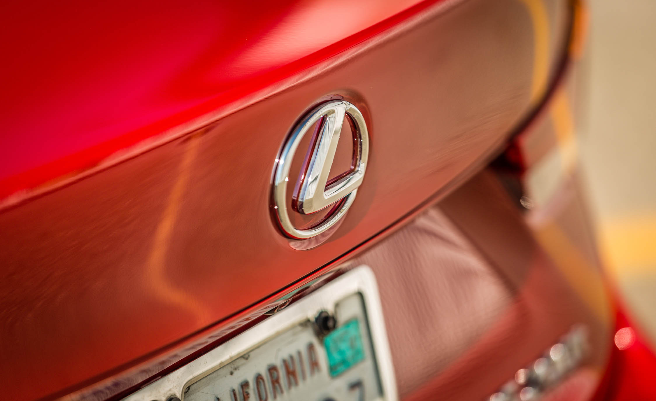 2017 Lexus IS 200t F Sport Red Exterior View Rear Badge Emblem (View 16 of 29)
