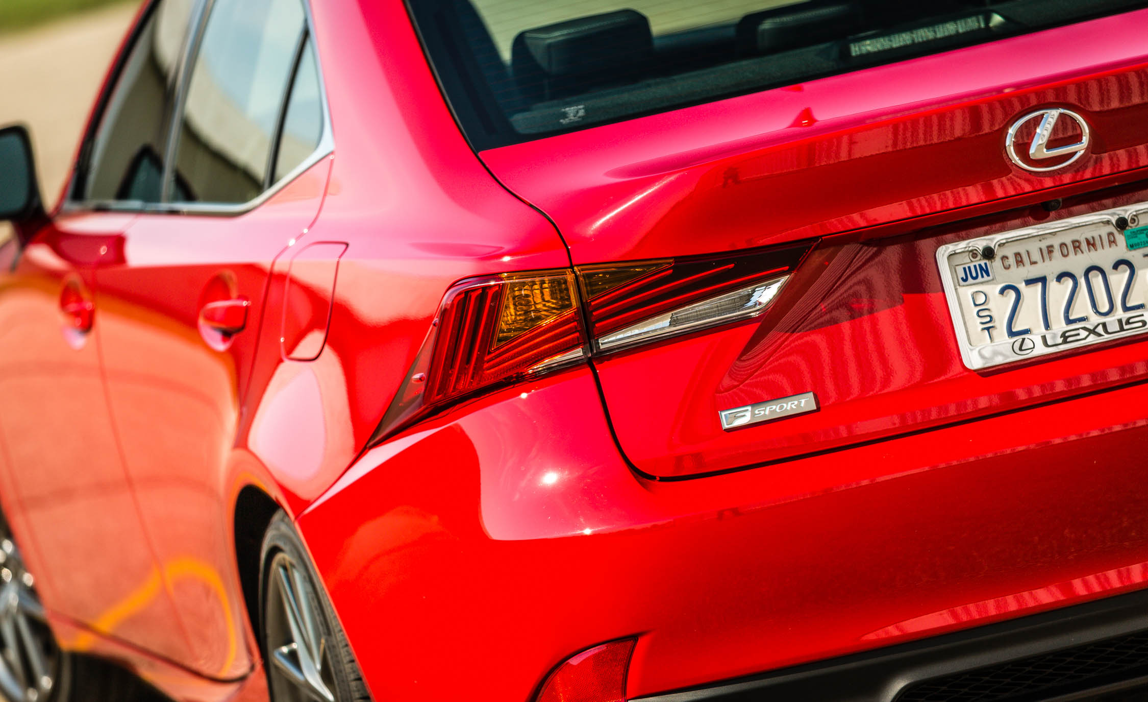 2017 Lexus IS 200t F Sport Red Exterior View Taillight (Photo 22 of 29)