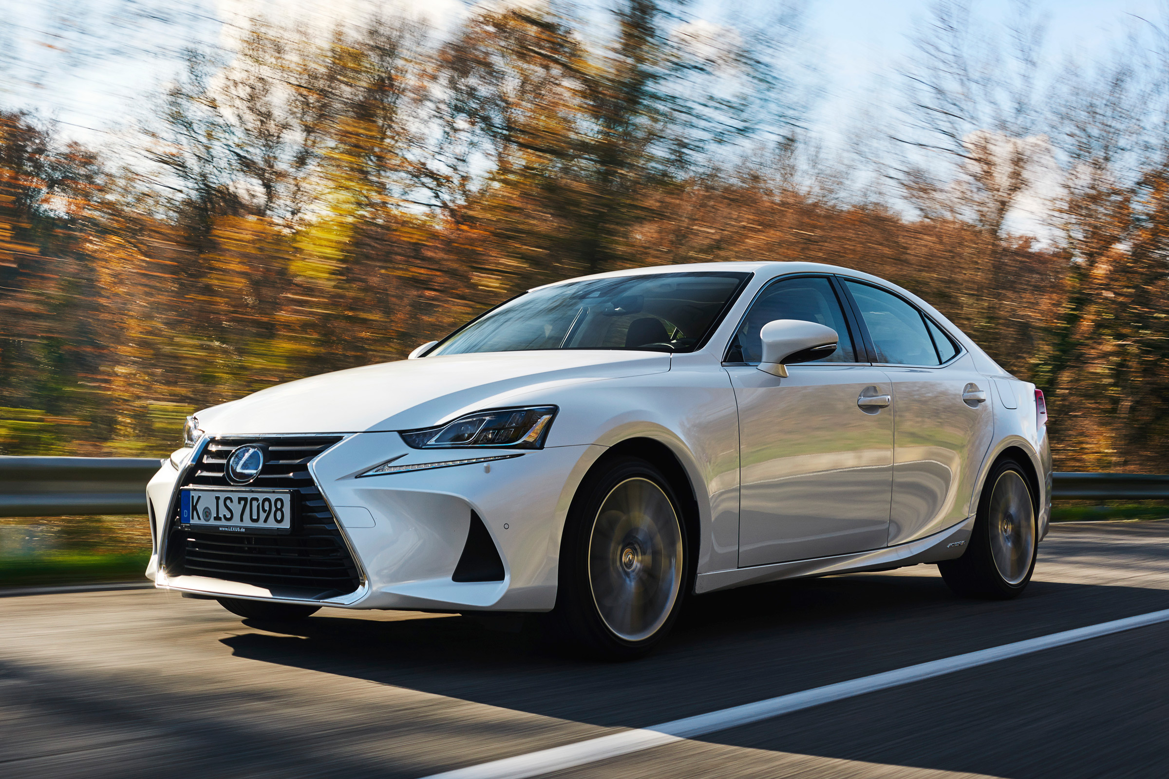 2017 Lexus IS 300h Test Drive Front And Side View (Photo 6 of 13)