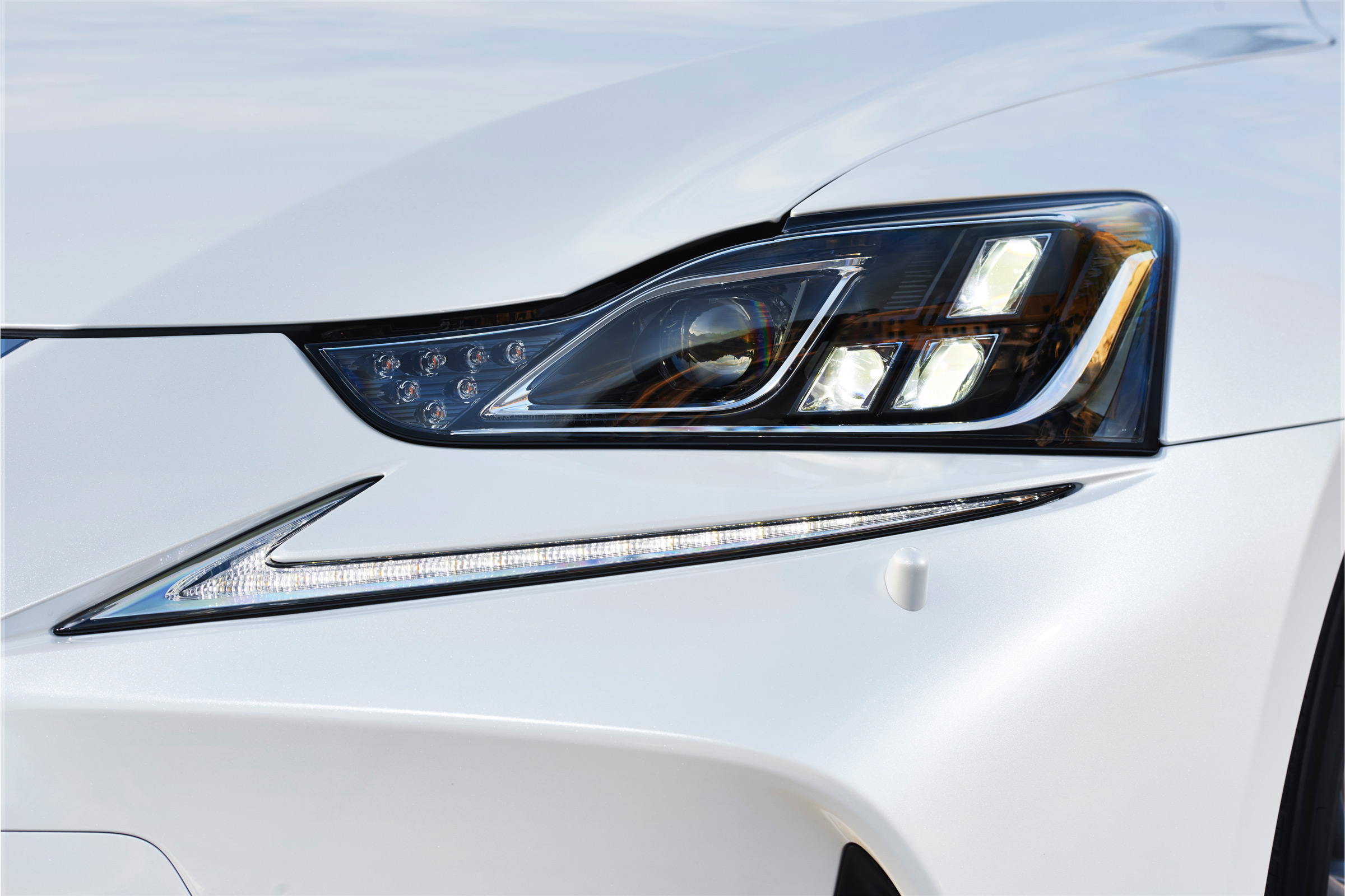 2017 Lexus IS 300h White Exterior View Headlight (View 5 of 13)
