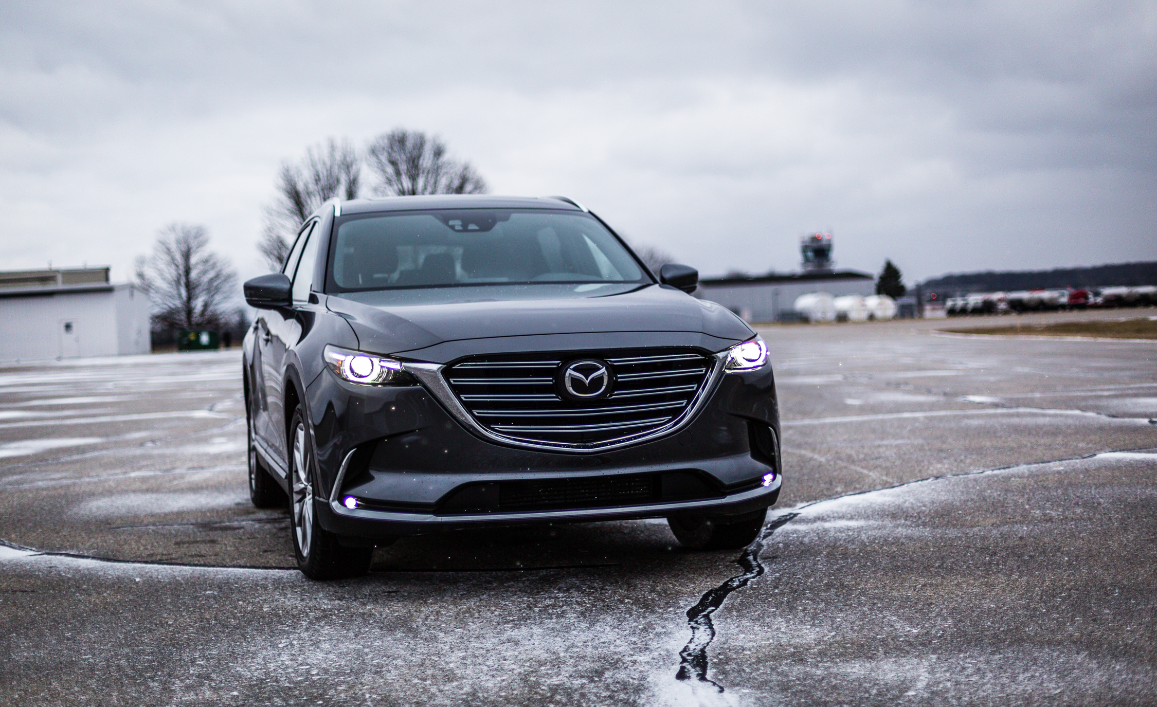 2017 Mazda CX 9 Grey Exterior Front Corner (View 24 of 28)