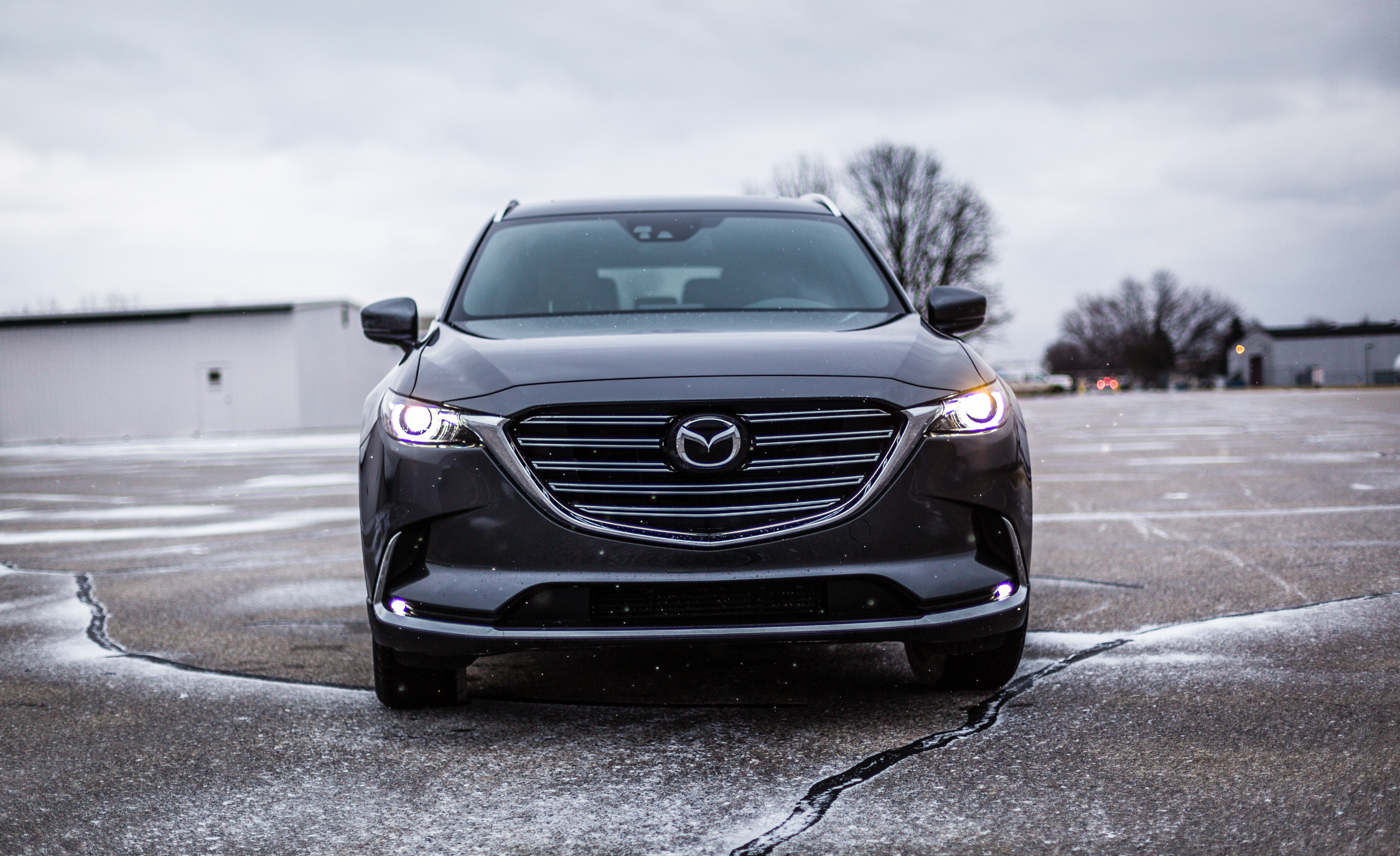 2017 Mazda CX 9 Grey Exterior Front End (Photo 8 of 28)