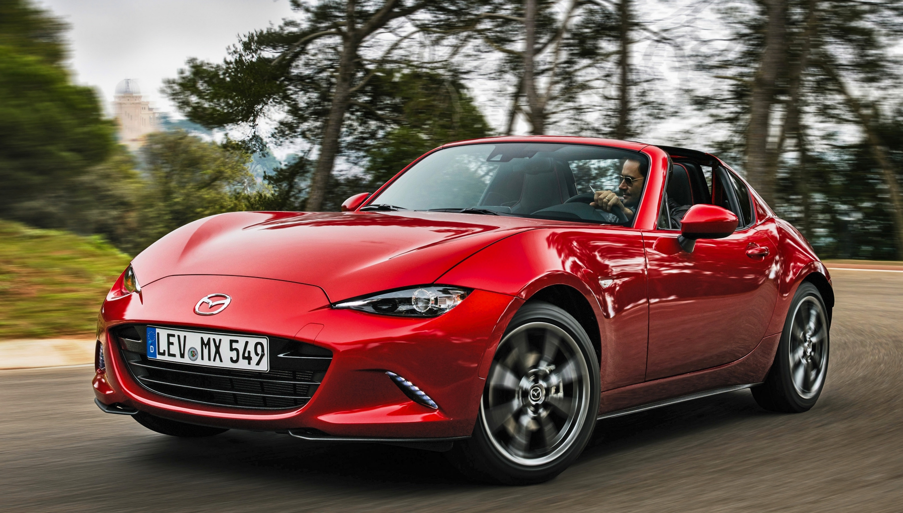 2017 Mazda MX 5 RF Red Test Drive Front View (Photo 14 of 20)