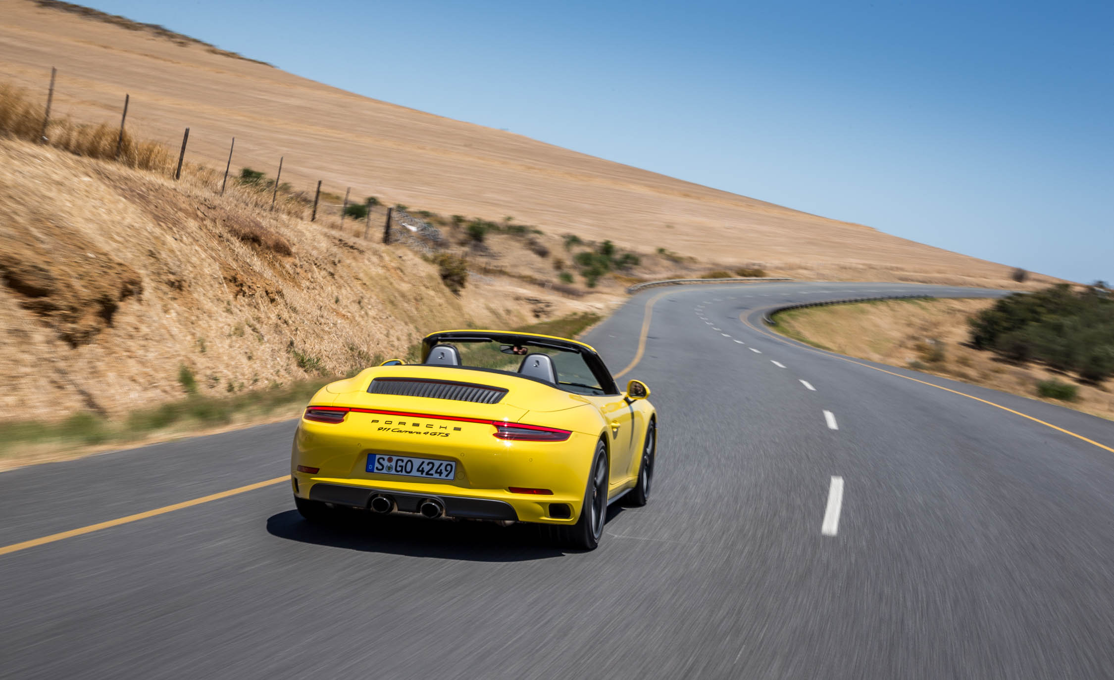 2017 Porsche 911 Carrera 4 GTS Cabriolet Test Drive Rear View (Photo 14 of 97)