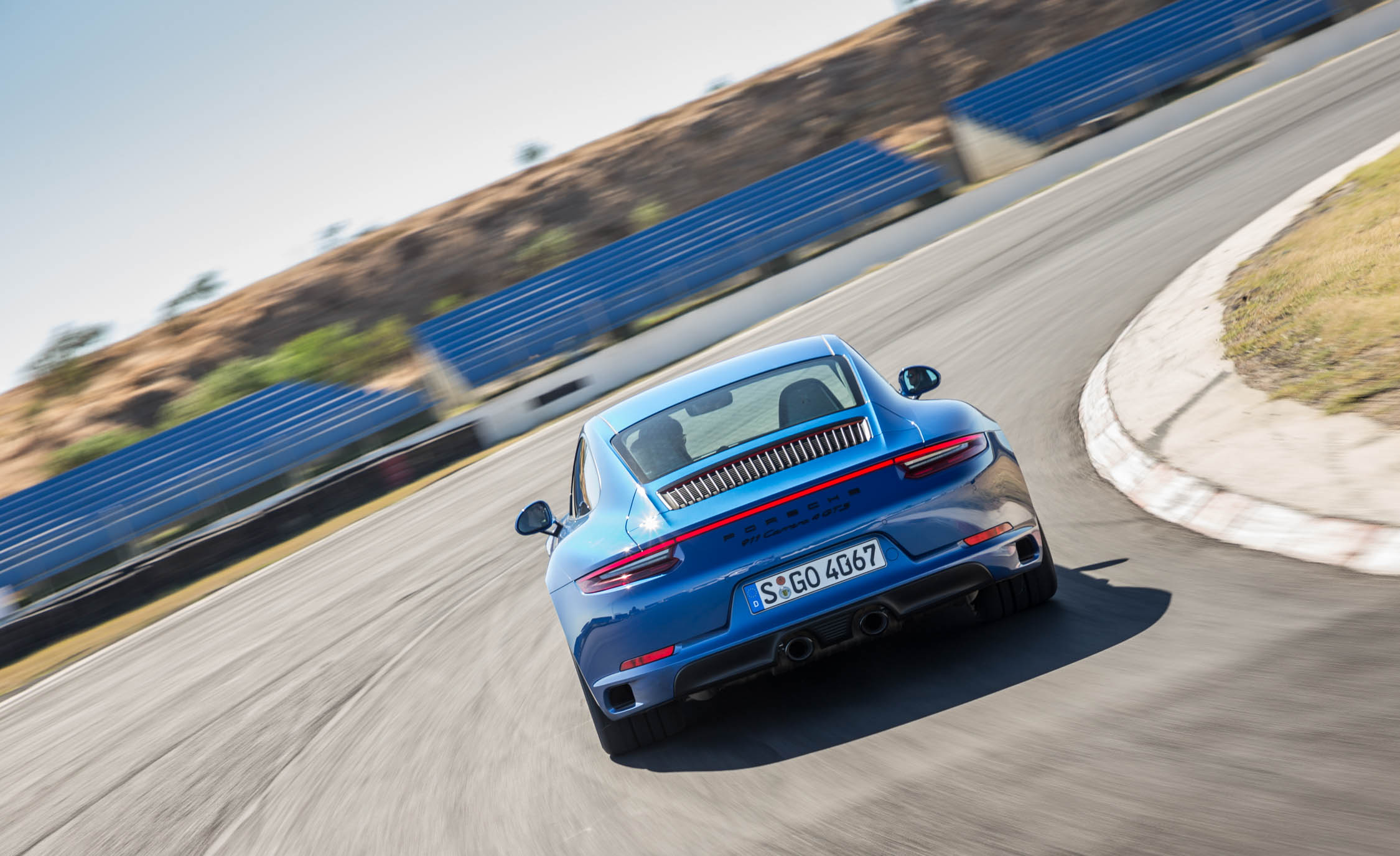2017 Porsche 911 Carrera 4 GTS Coupe Test Drive Rear View (Photo 28 of 97)