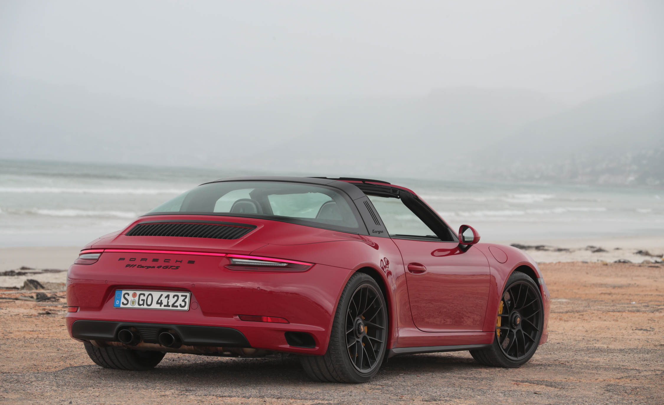 2017 Porsche 911 Targa 4 GTS Red Exterior Rear And Side (Photo 77 of 97)