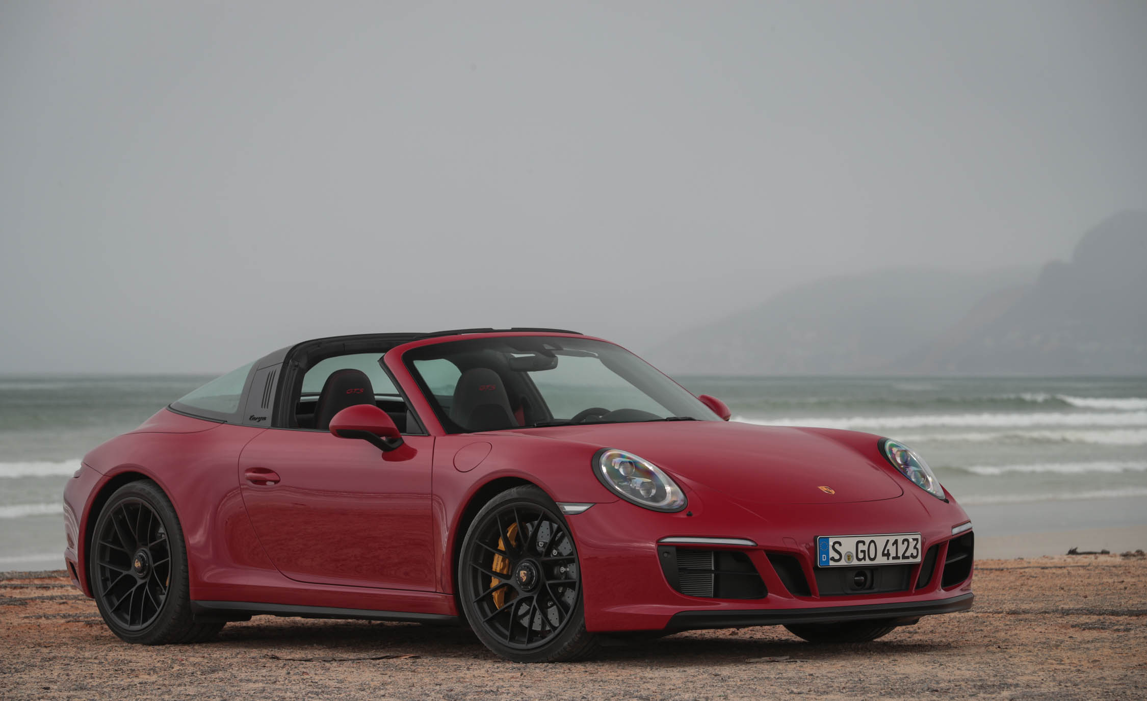 2017 Porsche 911 Targa 4 GTS Red Exterior (Photo 76 of 97)