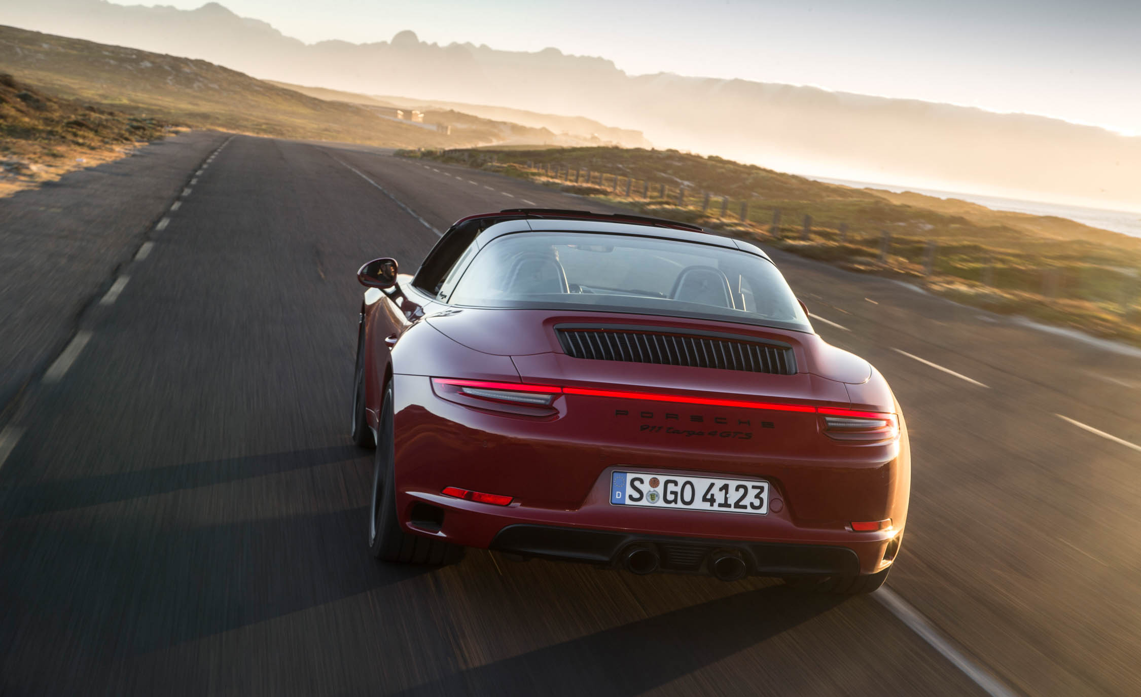 2017 Porsche 911 Targa 4 GTS Red Test Drive Rear View (Photo 89 of 97)