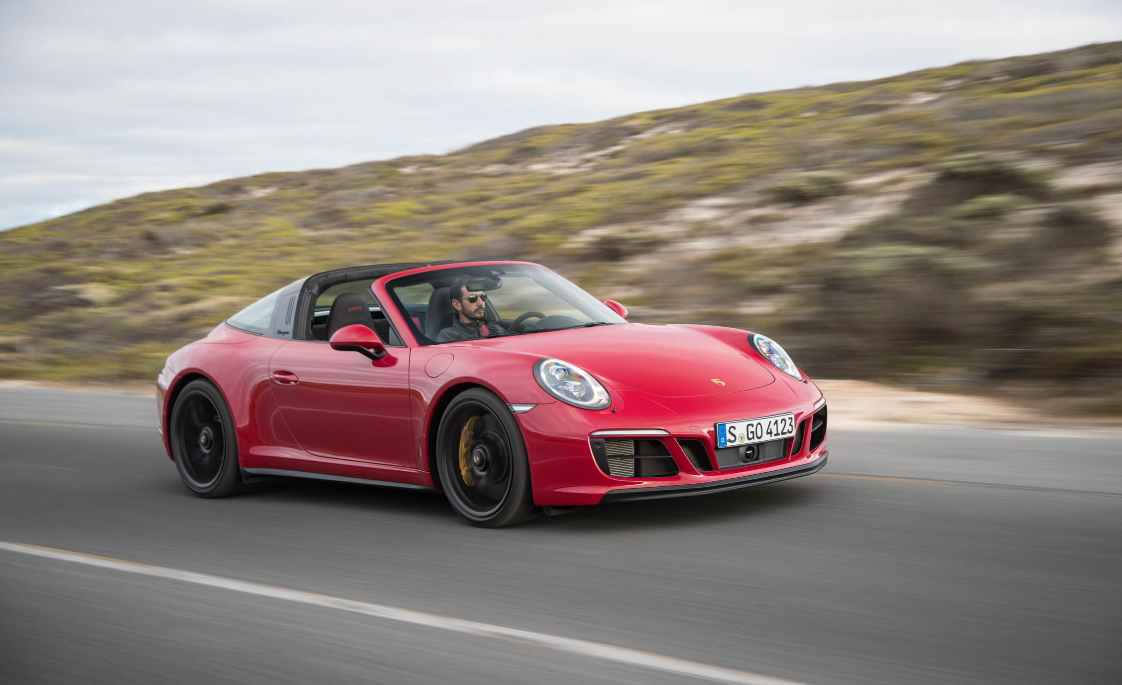 2017 Porsche 911 Targa 4 GTS Red Test Drive (Photo 84 of 97)