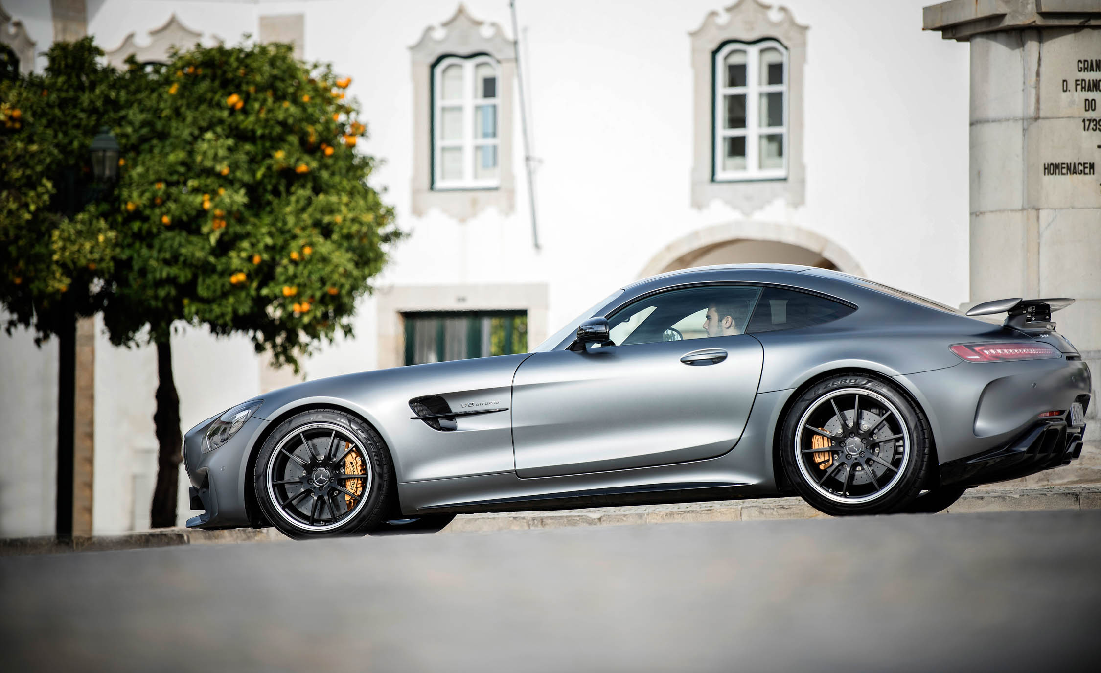 2018 Mercedes AMG GT R Exterior Grey Metallic Side View (Photo 11 of 36)