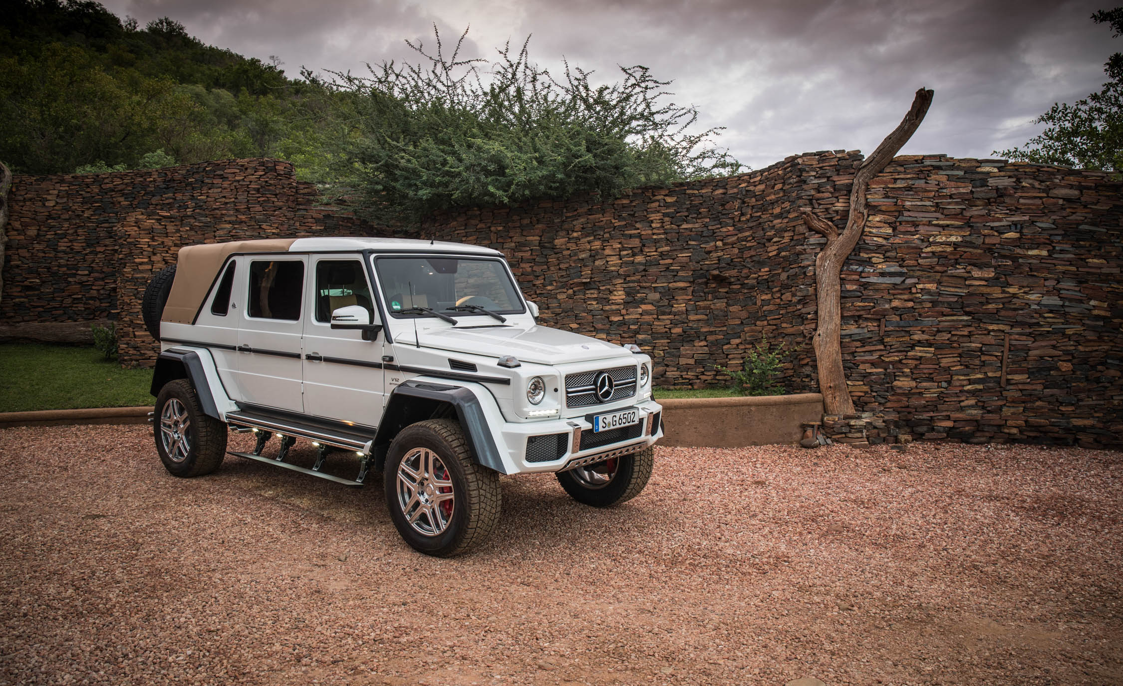 2018 Mercedes Maybach G650 Landaulet White Exterior Front And Side (Photo 9 of 52)