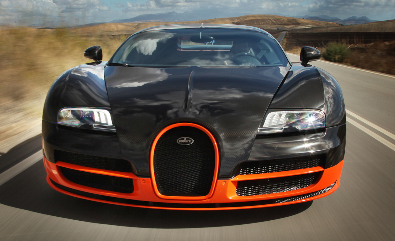 2011 Bugatti Veyron 16.4 Super Sport Test Drive Front End (Photo 15 of 39)