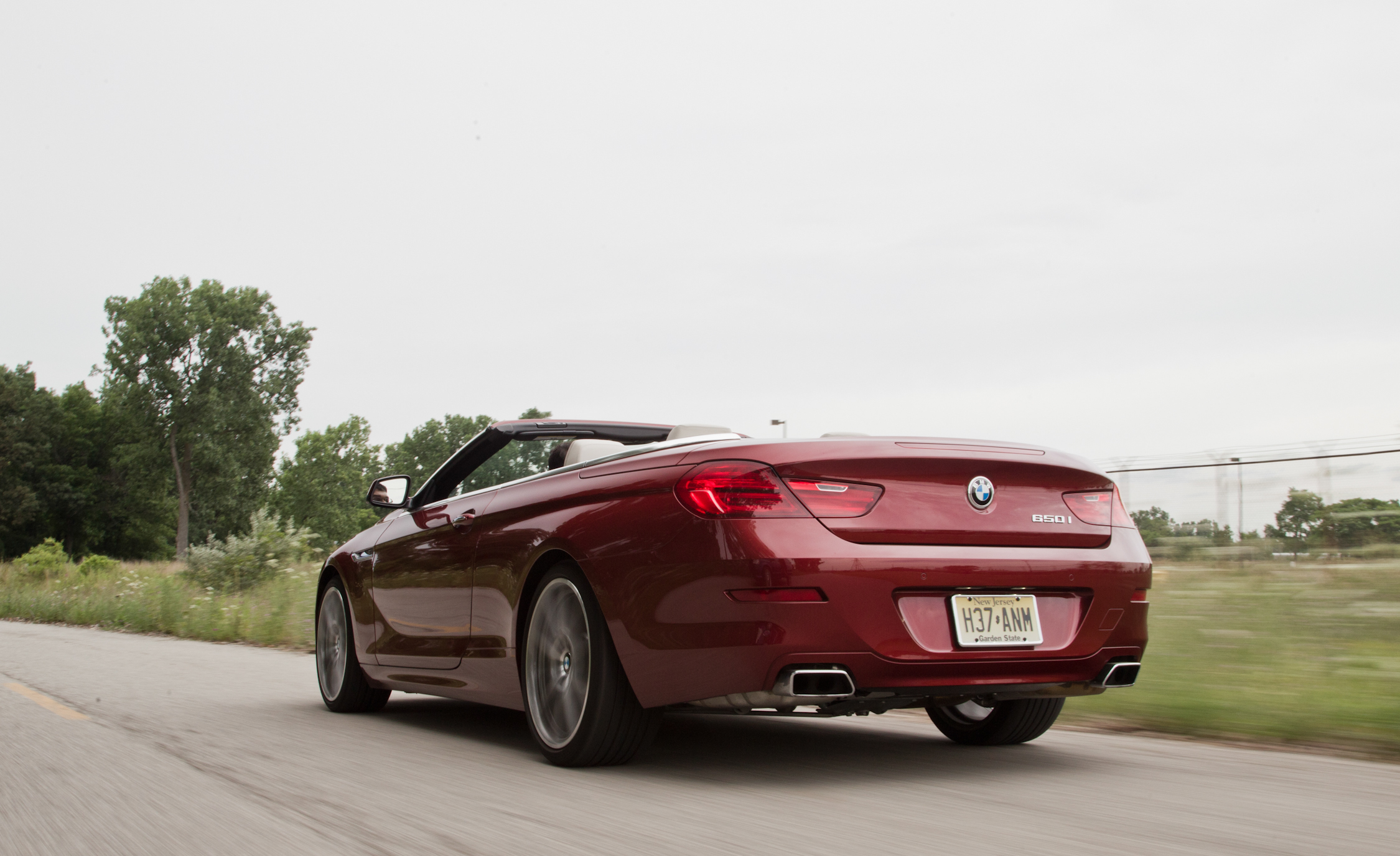 2012 BMW 650i Convertible Test Drive Rear And Side View (Photo 17 of 19)