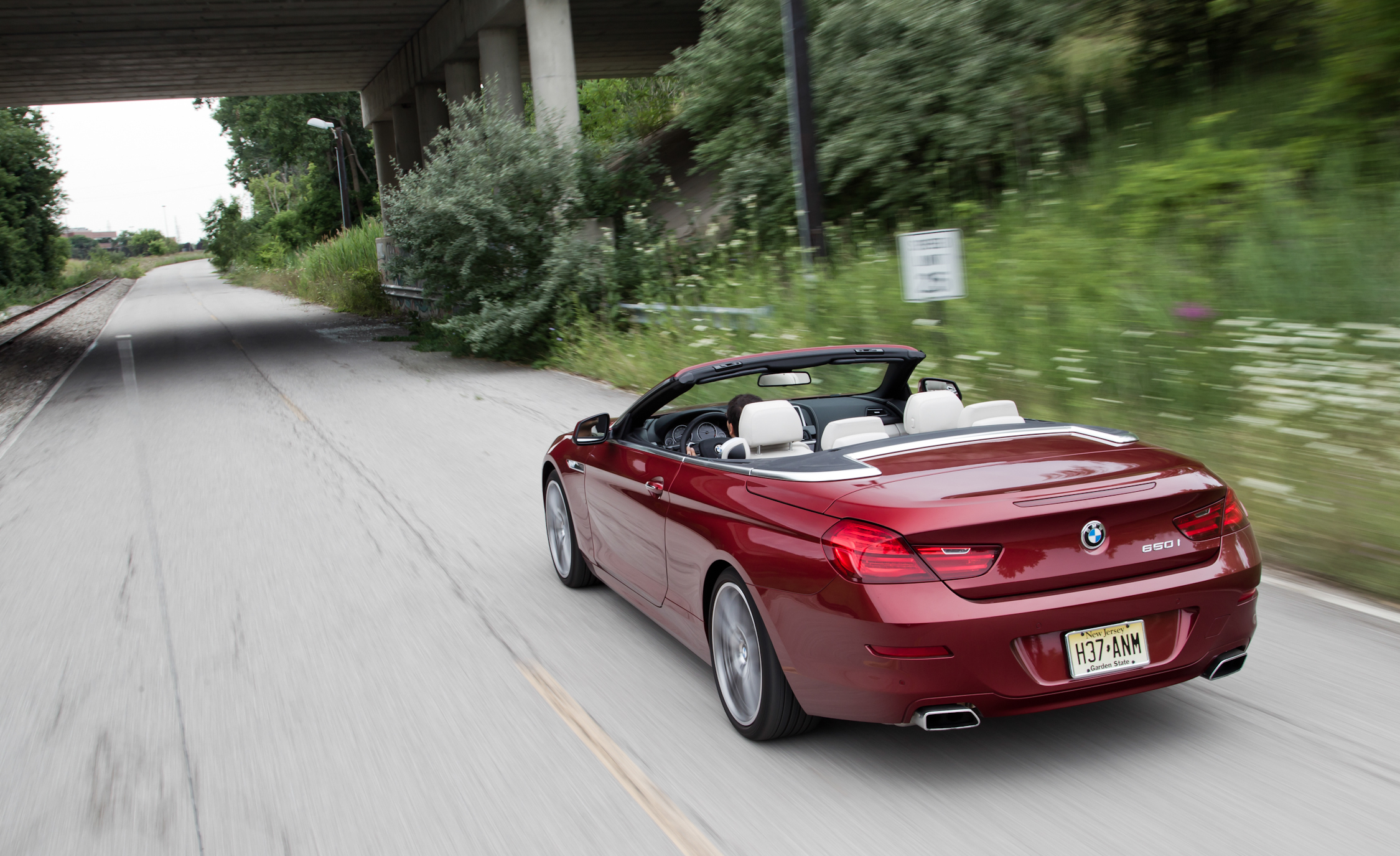 2012 BMW 650i Convertible Test Drive Side And Rear View (Photo 18 of 19)