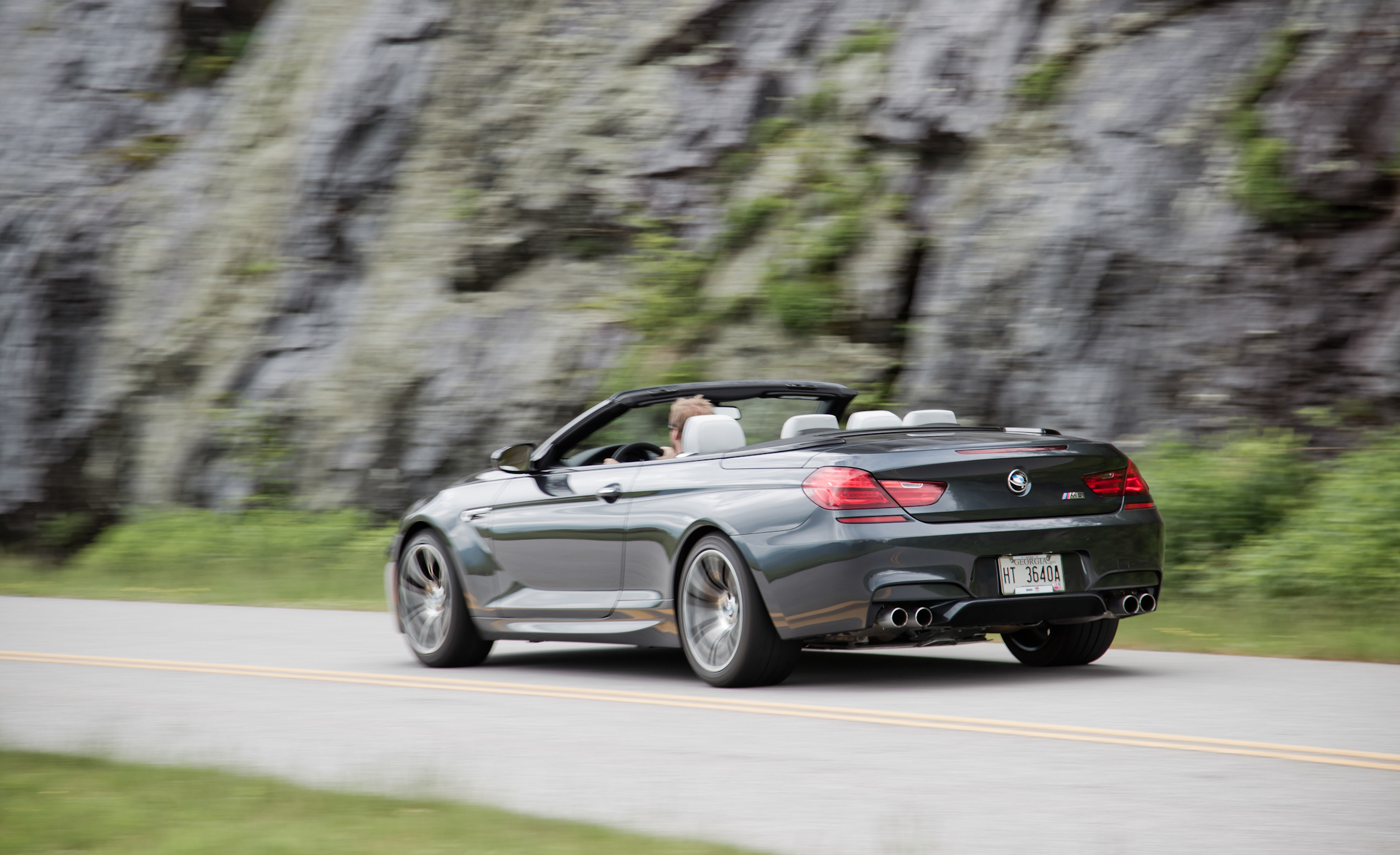 2012 BMW M6 Convertible Test Drive Rear And Side Corner (Photo 10 of 30)