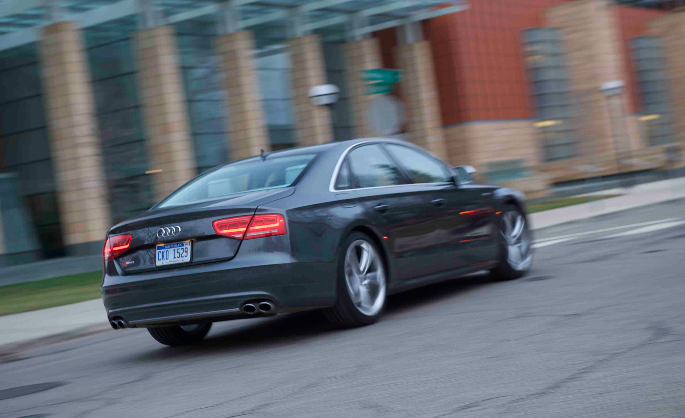 2013 Audi S8 Test Drive Side And Rear View (View 8 of 25)