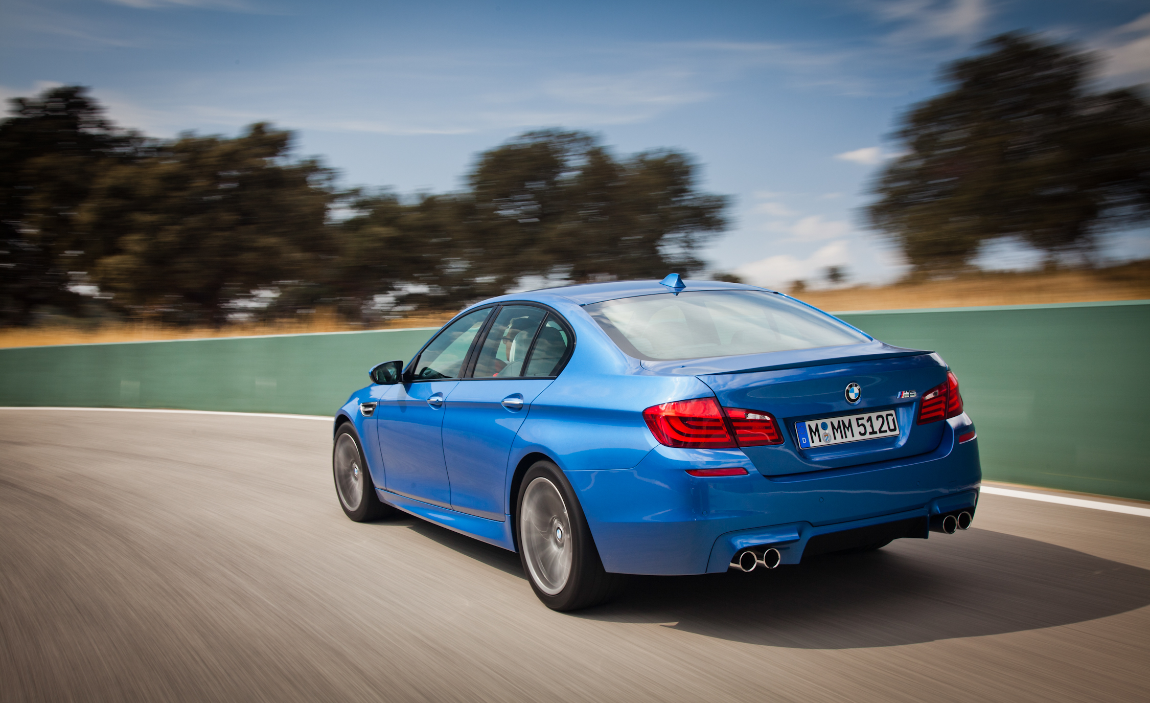 2013 BMW M5 Test Drive Rear And Side View (View 5 of 22)