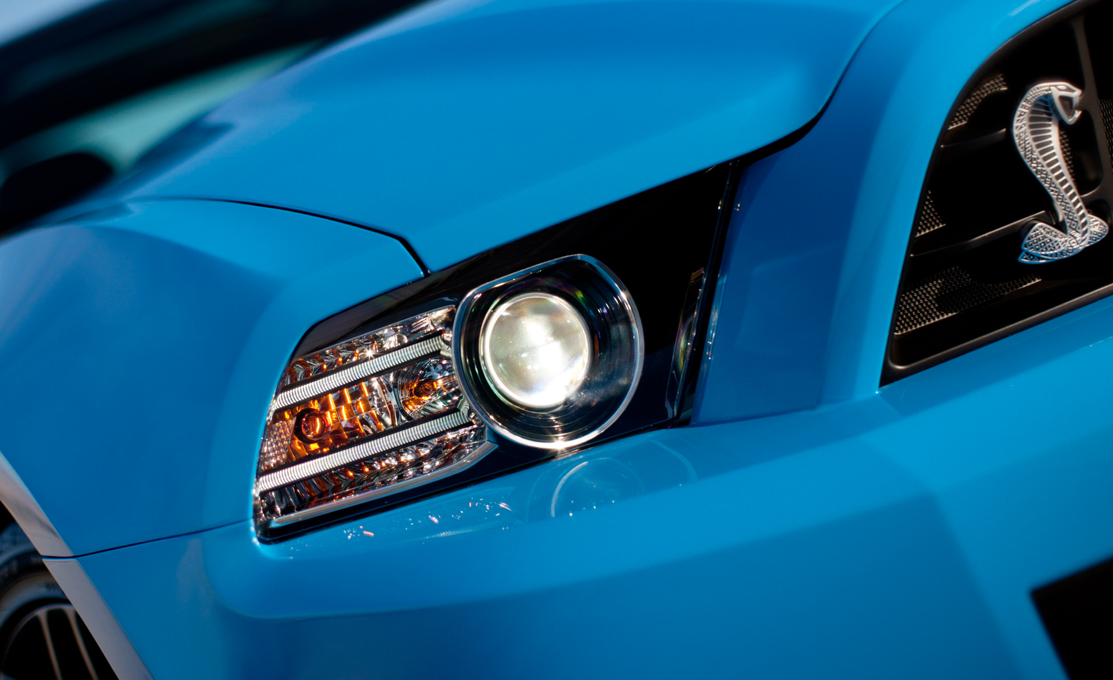 2013 Ford Mustang Shelby GT500 Blue Exterior View Headlight (Photo 6 of 47)
