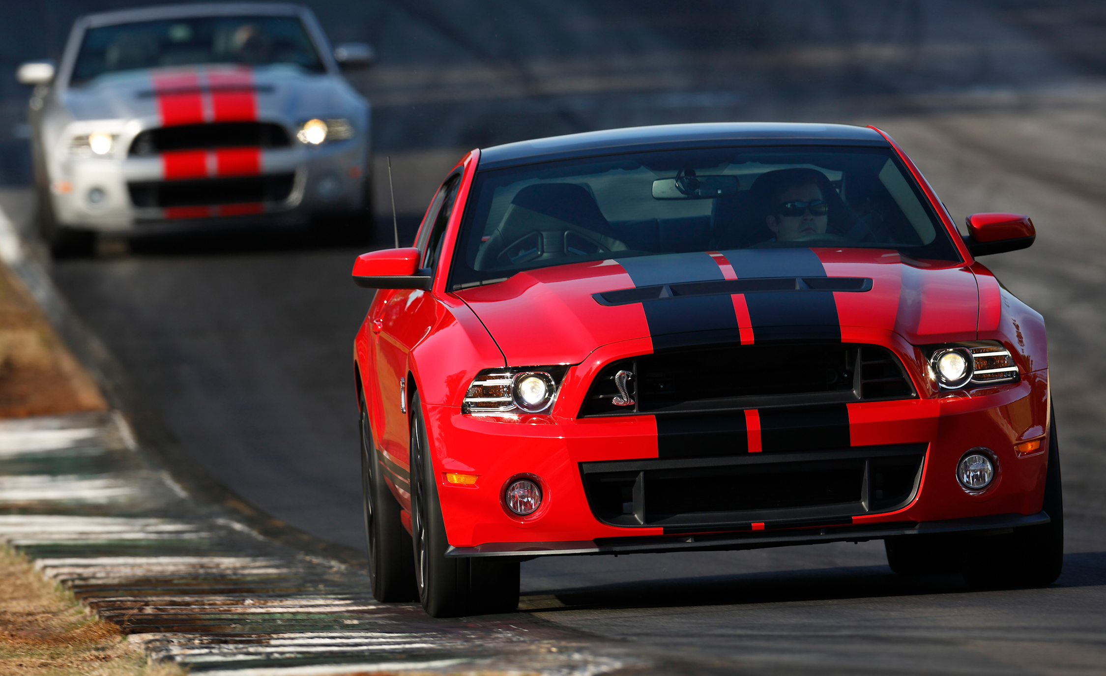 2013 Ford Mustang Shelby GT500 Red Exterior Front (Photo 29 of 47)